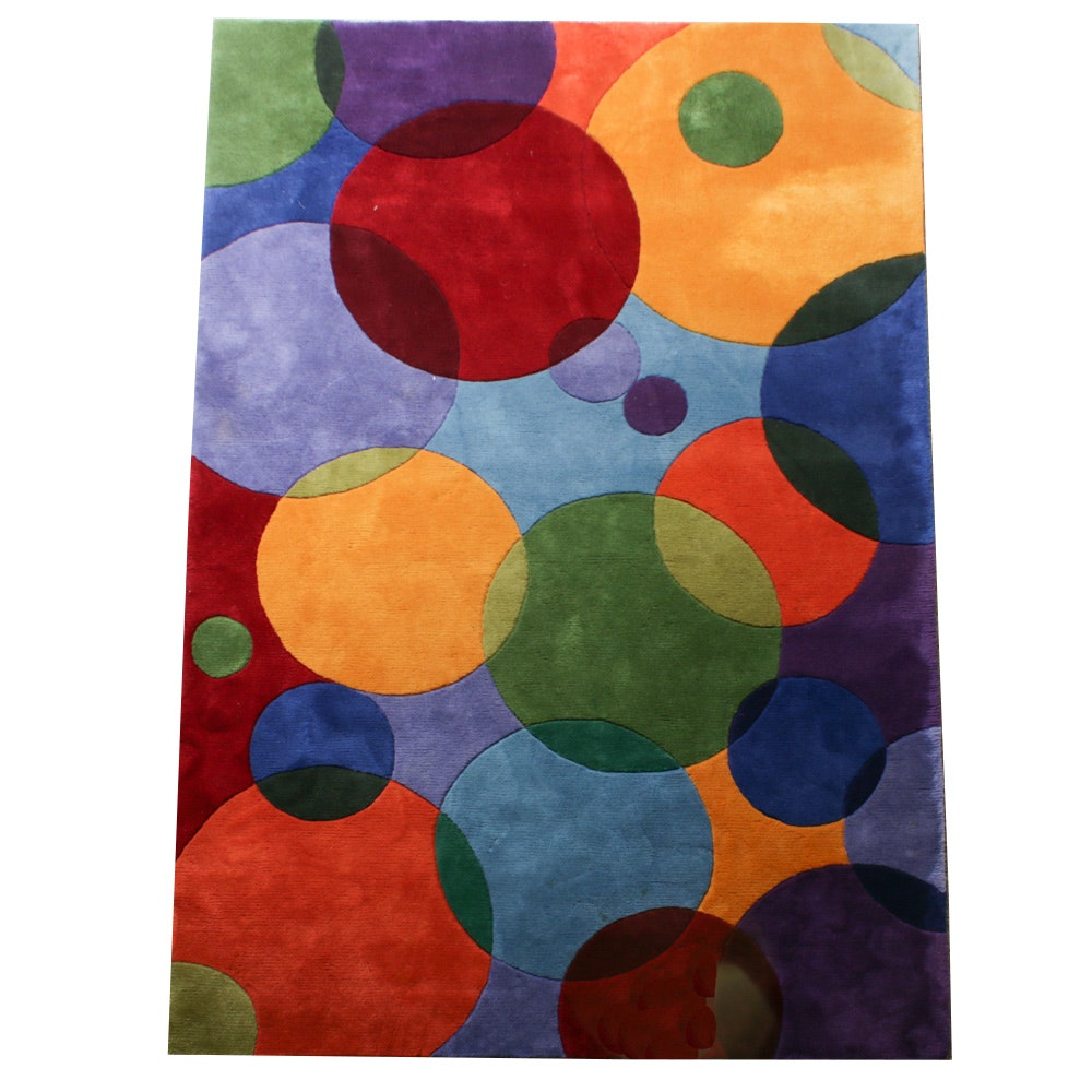 Tufted Momeni New Wave Collection Sculpted Wool Area Rug