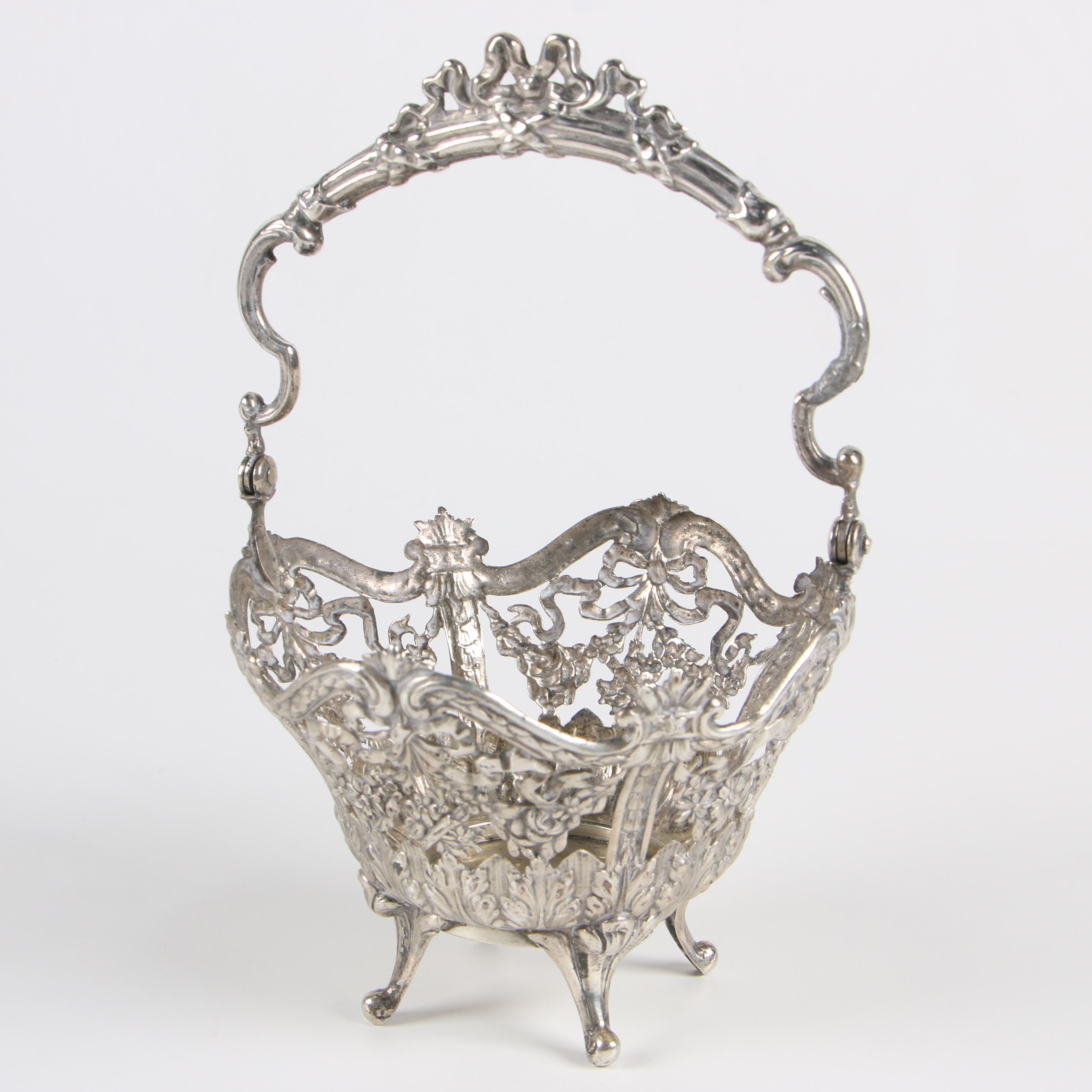 Storck & Sinsheimer 800 Silver Filigree Basket