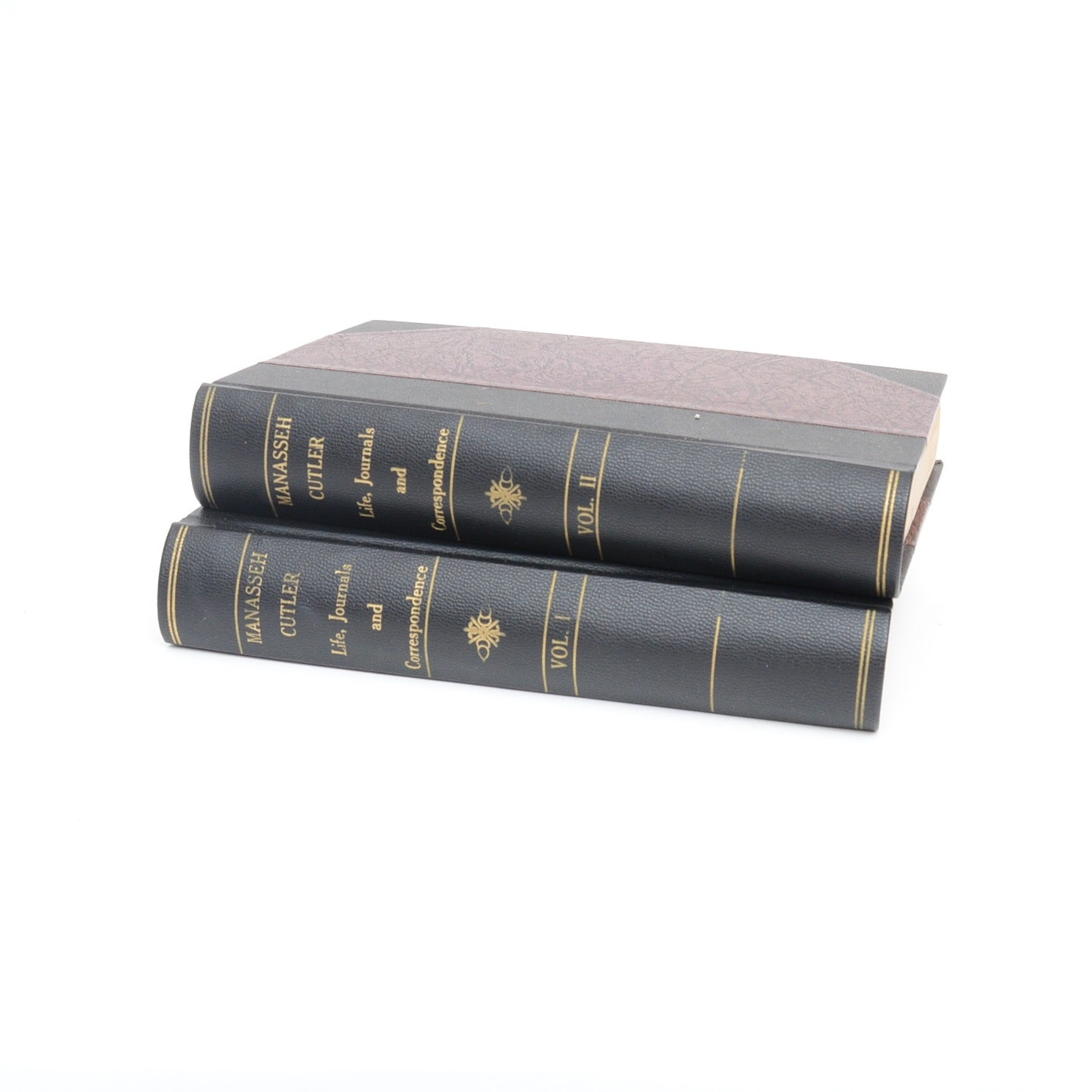 """1888 """"Life, Journals and Correspondence of Rev. Manasseh Cutler"""" 2 Volumes"""