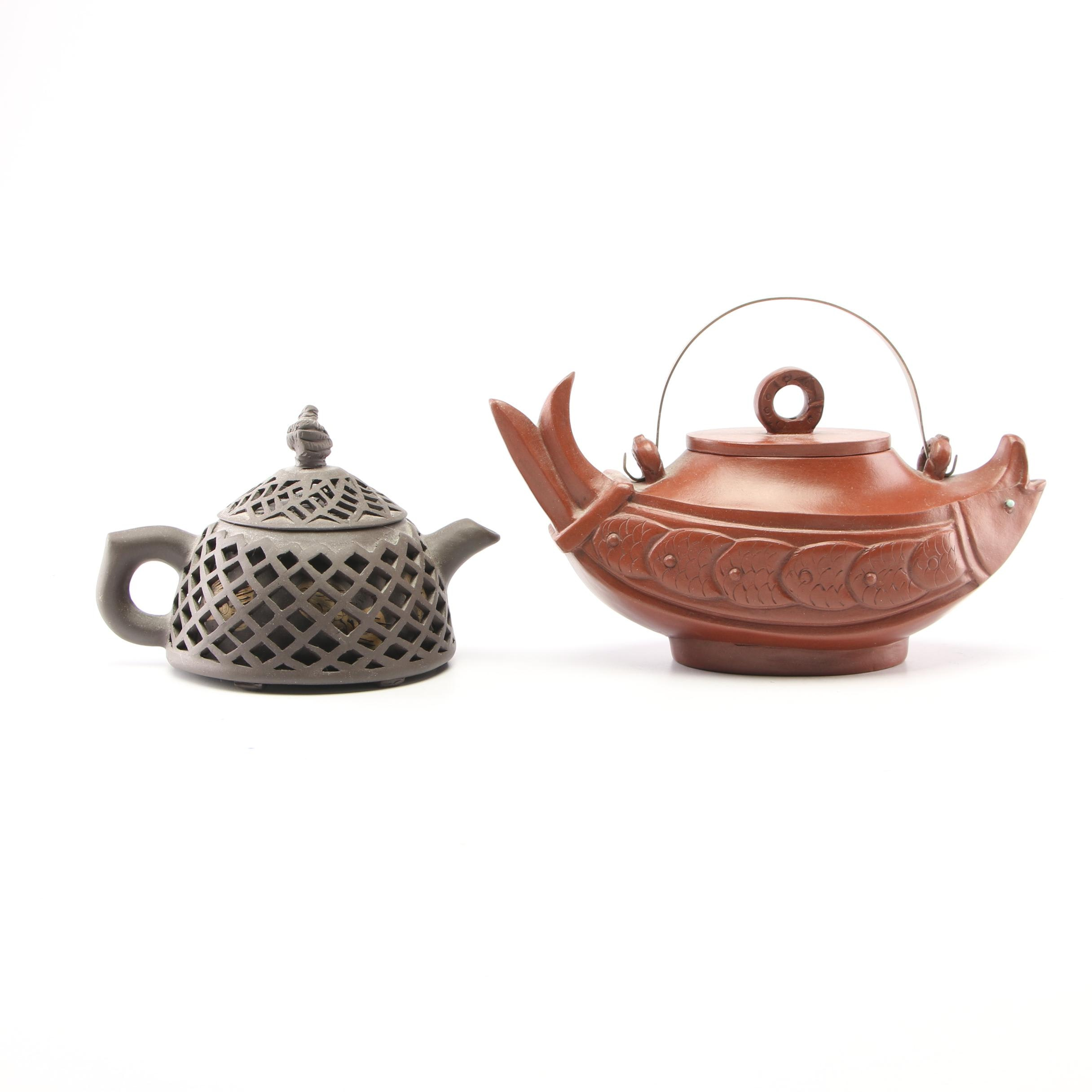 Chinese Clay Decorative Teapots