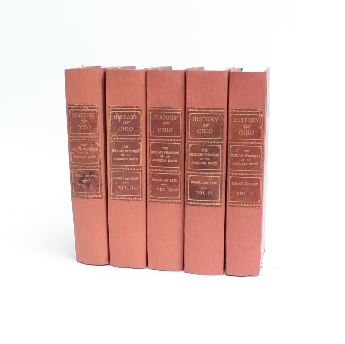 "1912 ""History of Ohio"" By E. Randall and D. Ryan, Five Volume Ser"
