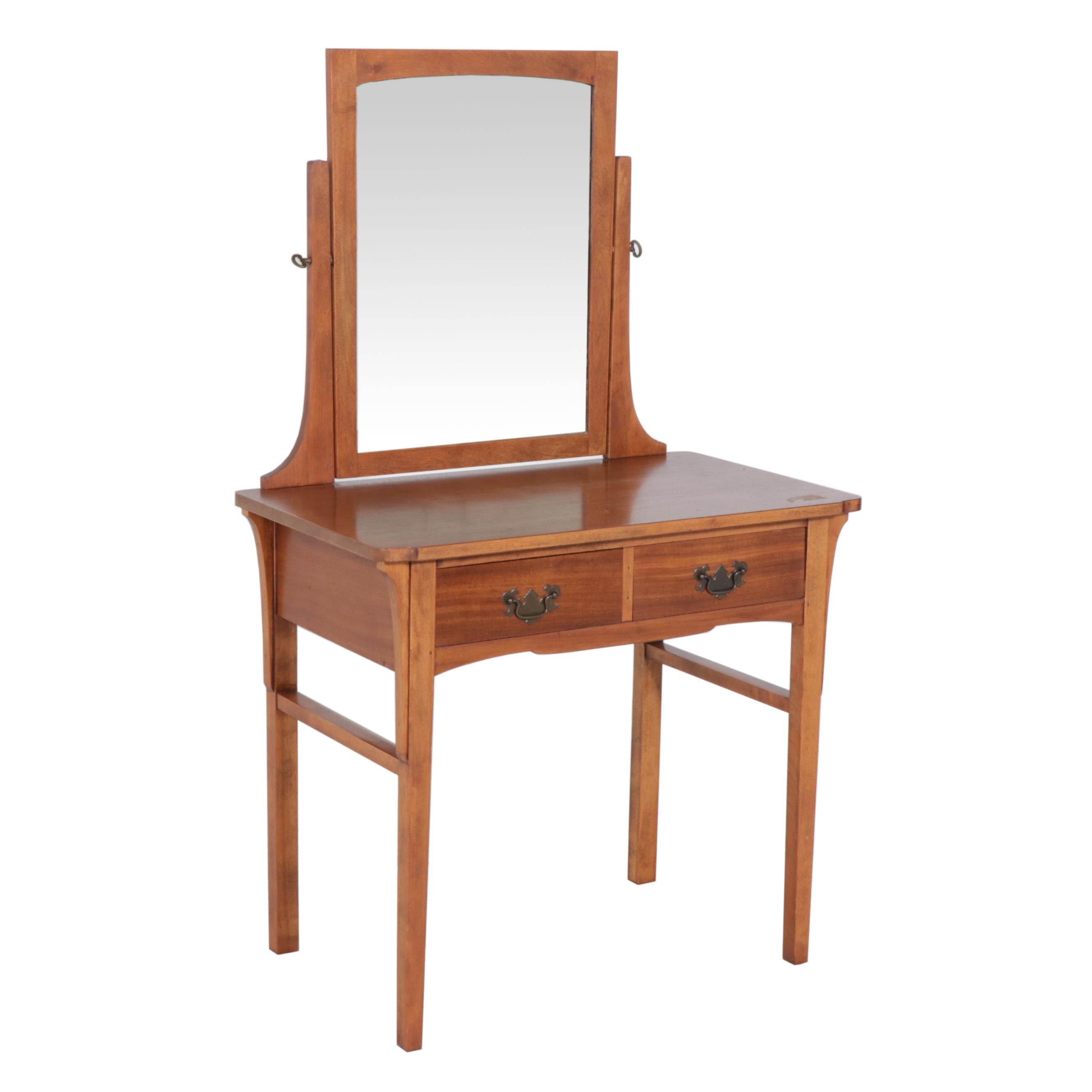 Walnut Vanity Tqble by Holland Furniture