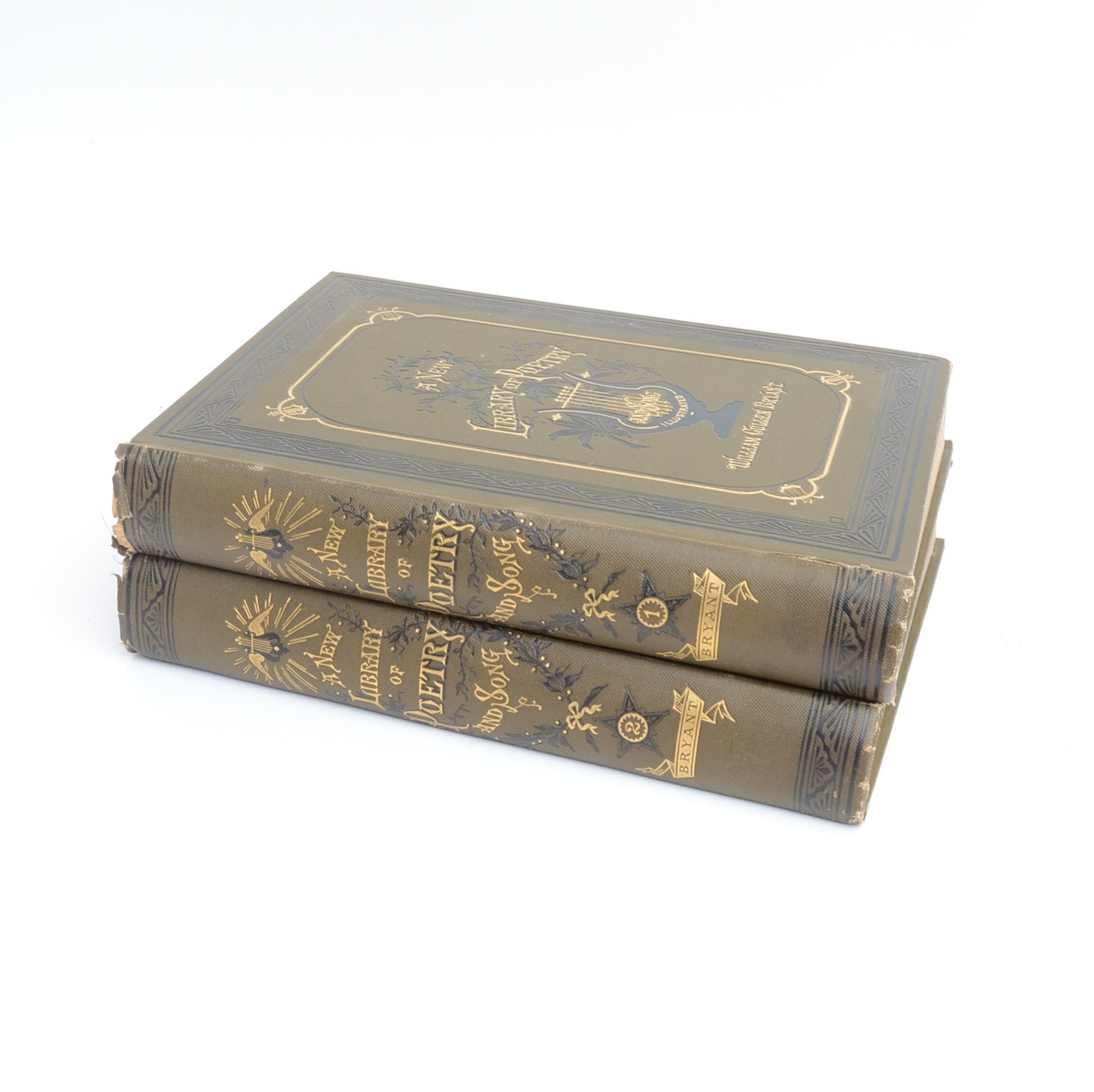 """1883 """"A New Library of Poetry and Music"""" Edited by William C. Bryant, 2 Volumes"""
