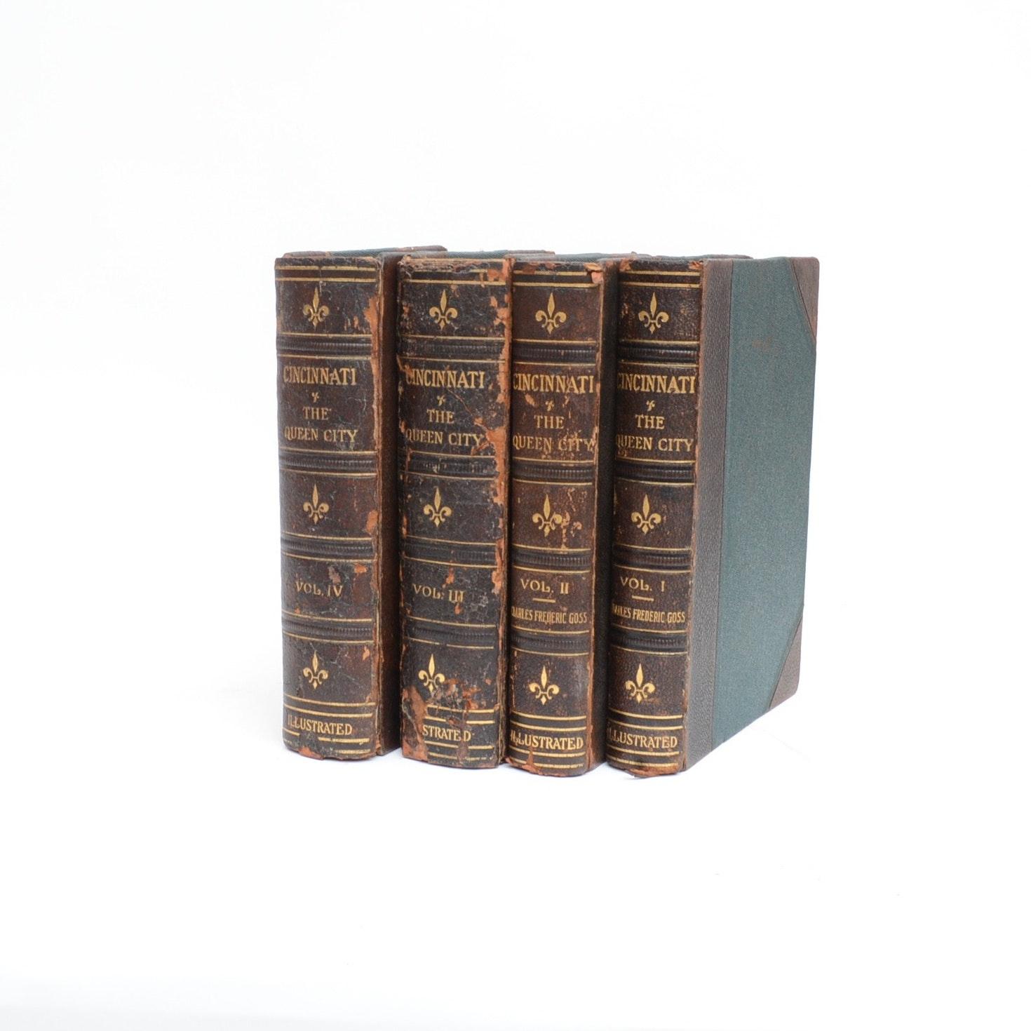 "1912 ""Cincinnati The Queen City"" by Rev. Charles Goss, Four Volume Set"