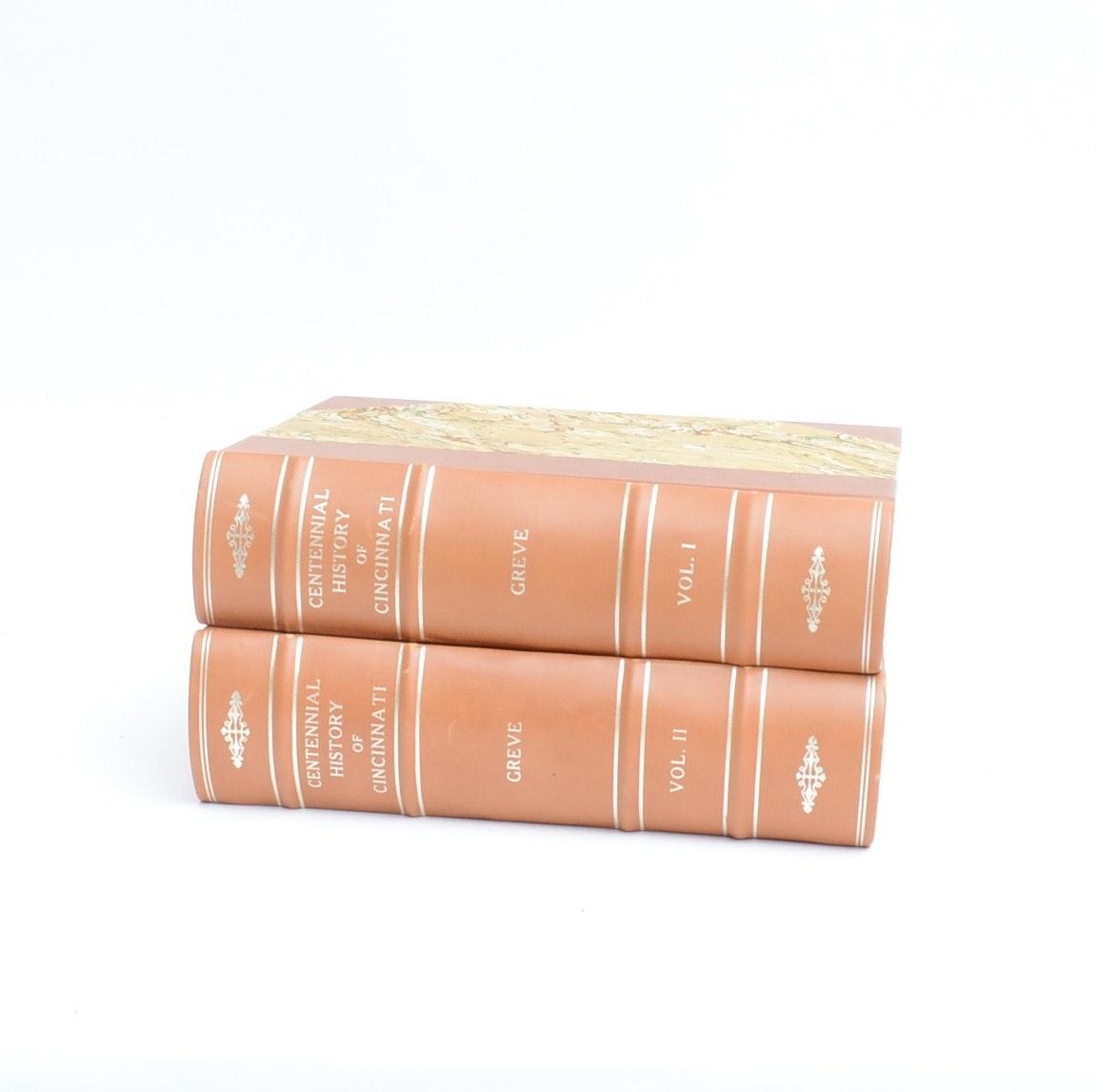 "1904 ""Centennial History of Cincinnati and Representative Citizens"" Two Volumes"