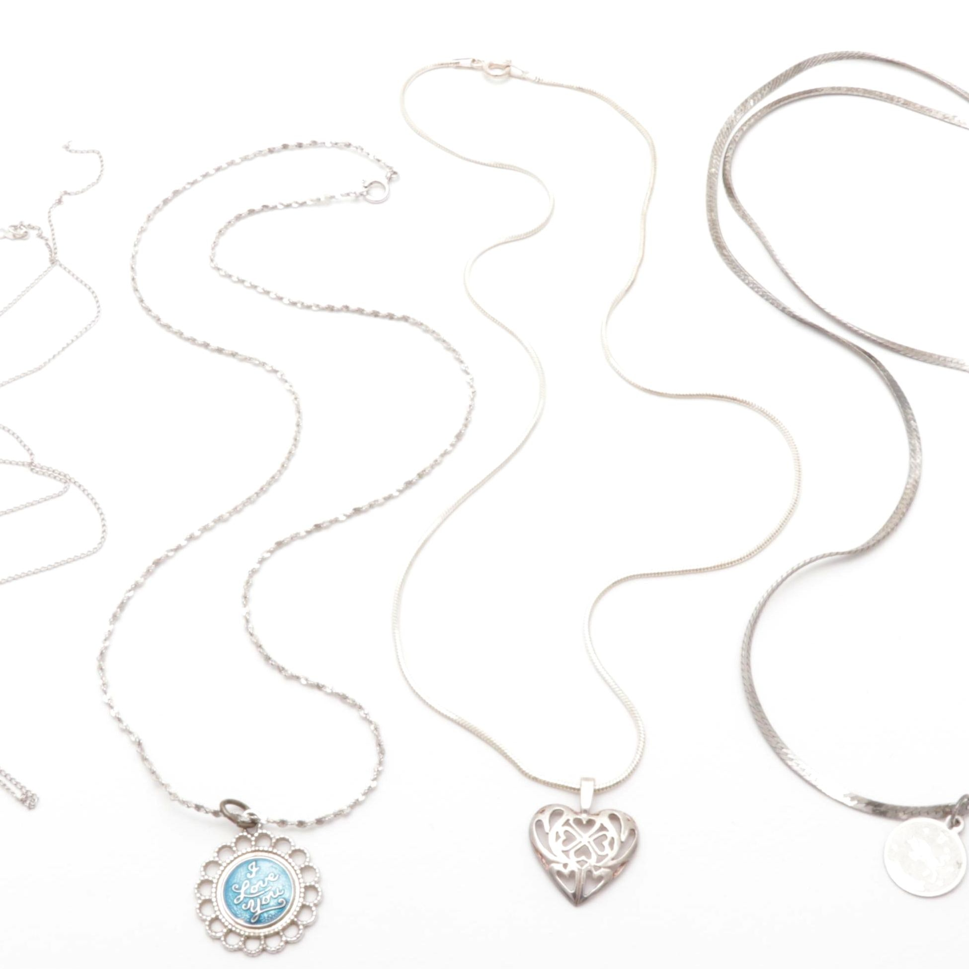 Sterling Silver Necklace Chains and Pendants