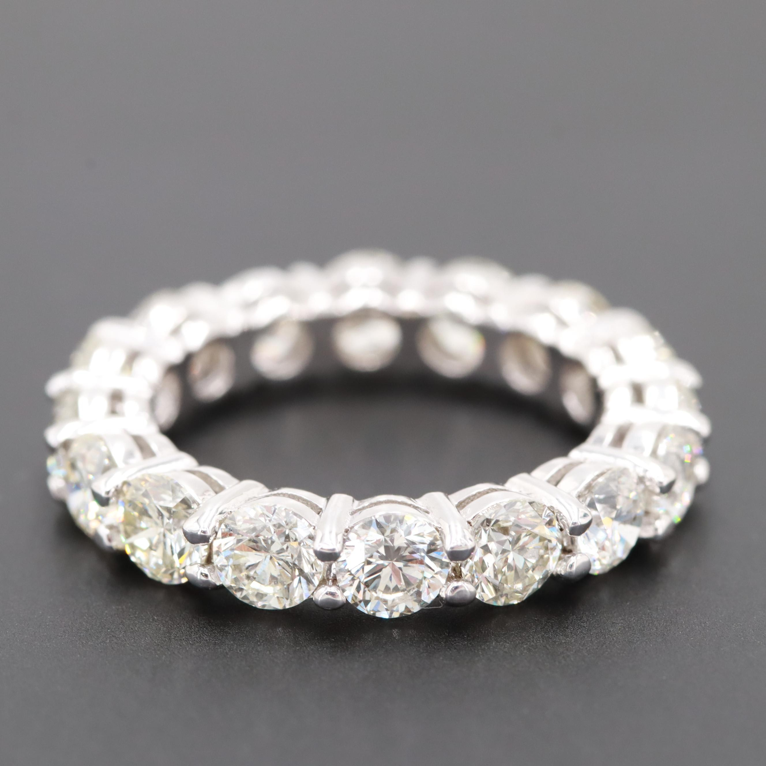 14K White Gold 4.40 CTW Diamond Eternity Ring