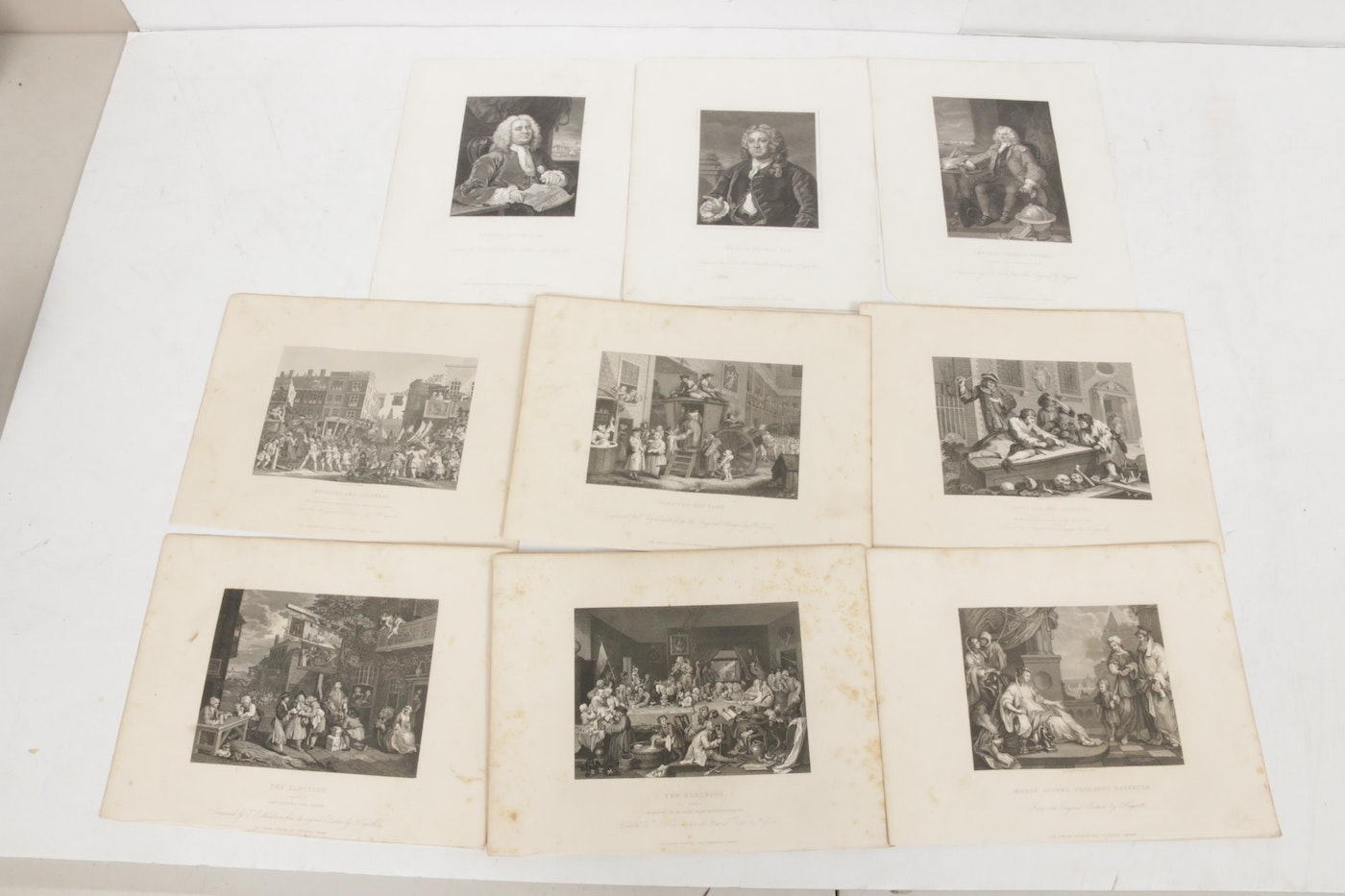 "19th Century Engravings After William Hogarth ""The Works"