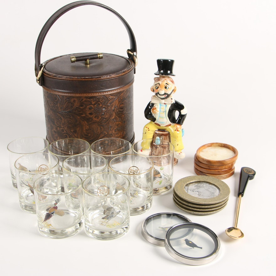 "Ned Smith Old Fashioned ""Duck"" Glasses and Other Barware"