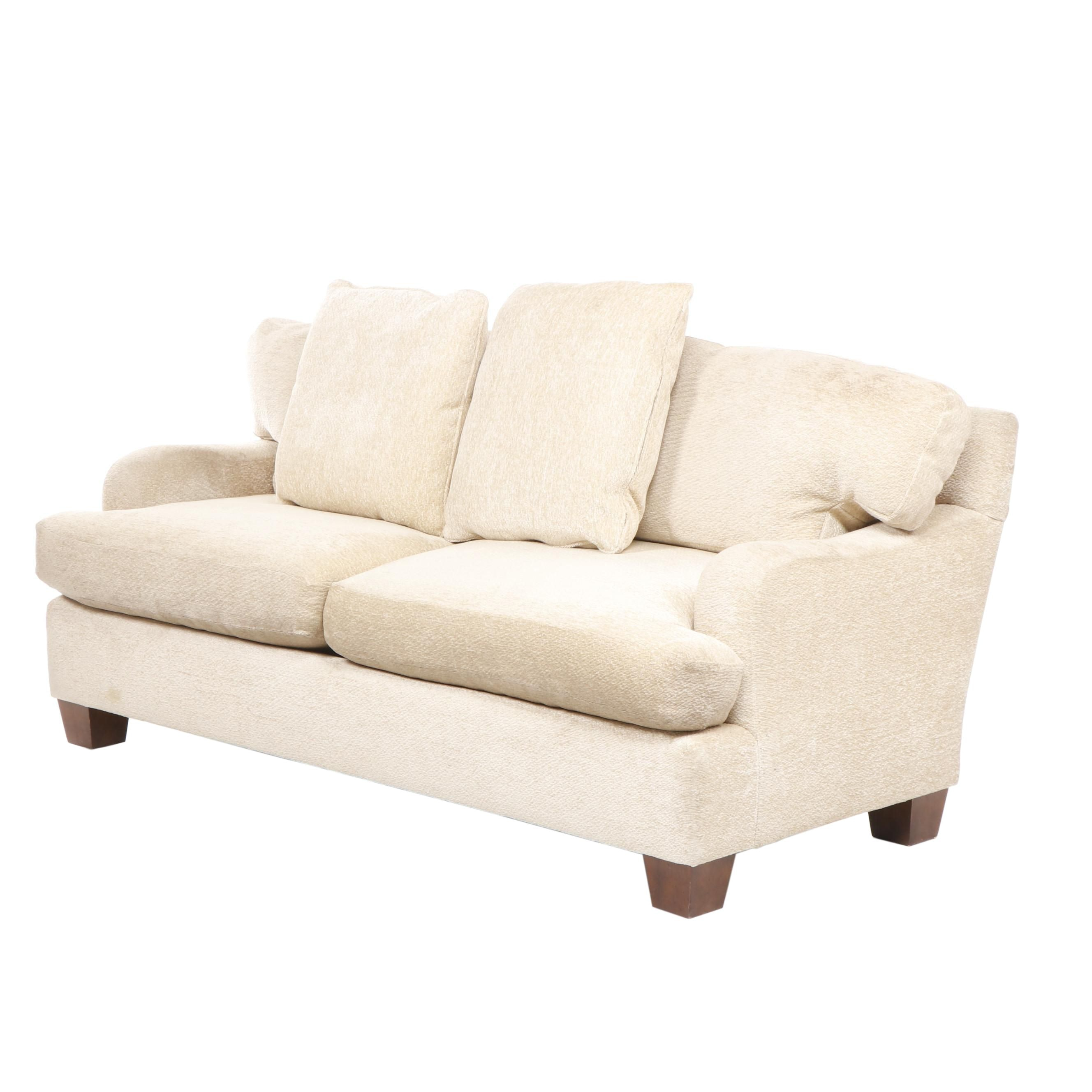 Contemporary Dapha Ltd. Beige Upholstered Sofa