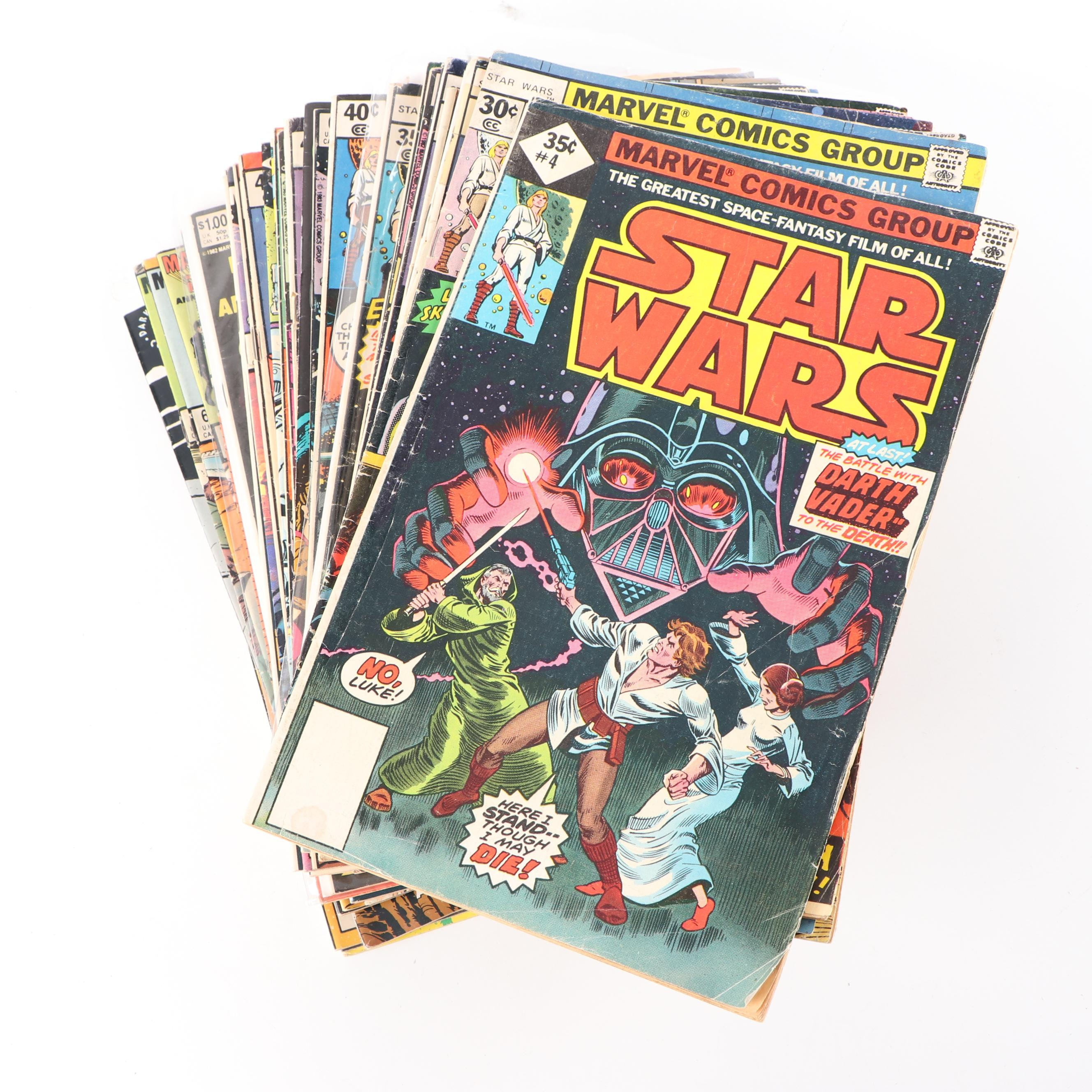 "Bronze Aged ""Star Wars Issue #4 and More"" Comic Books"