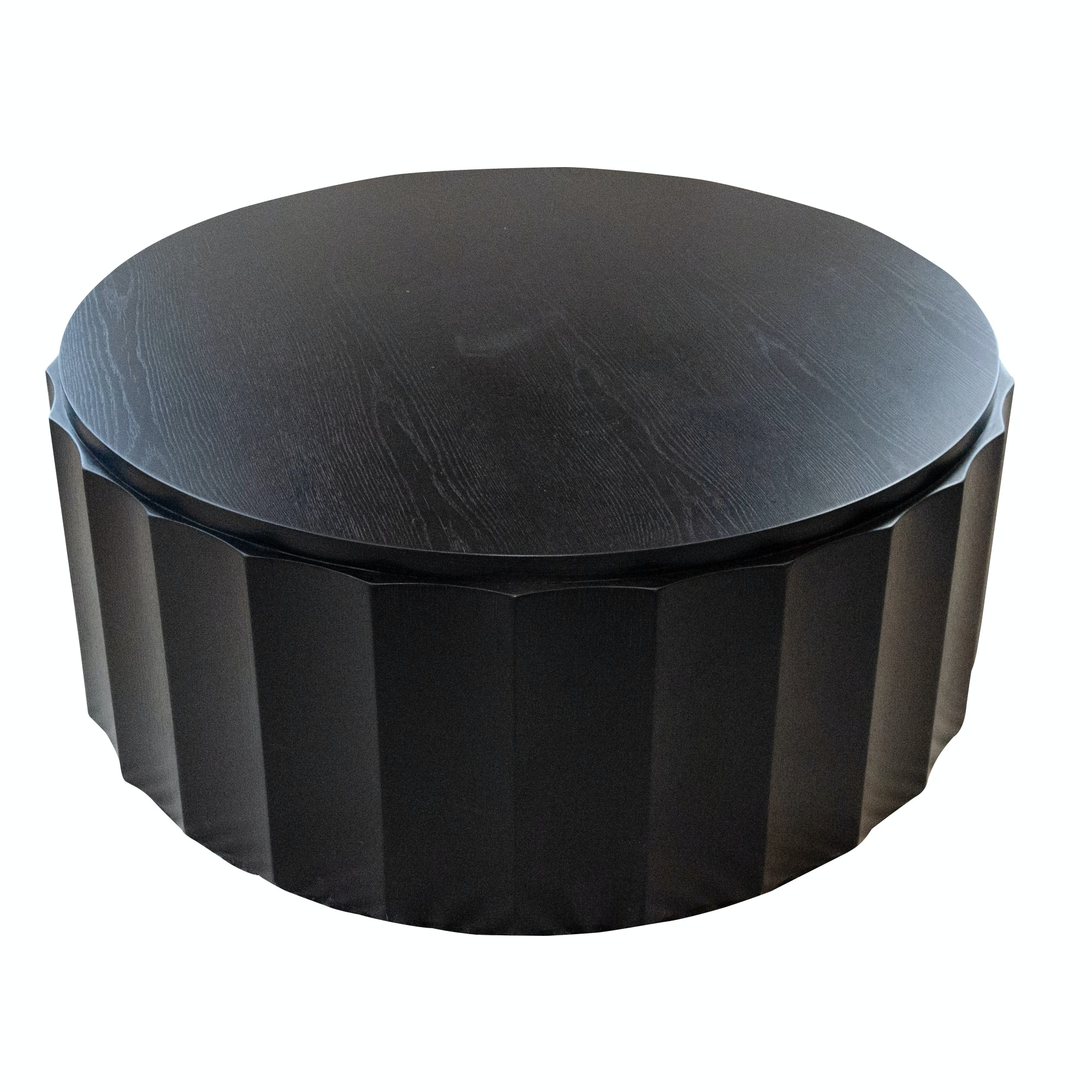 Modern Round Espresso-Finish Wooden Coffee Table