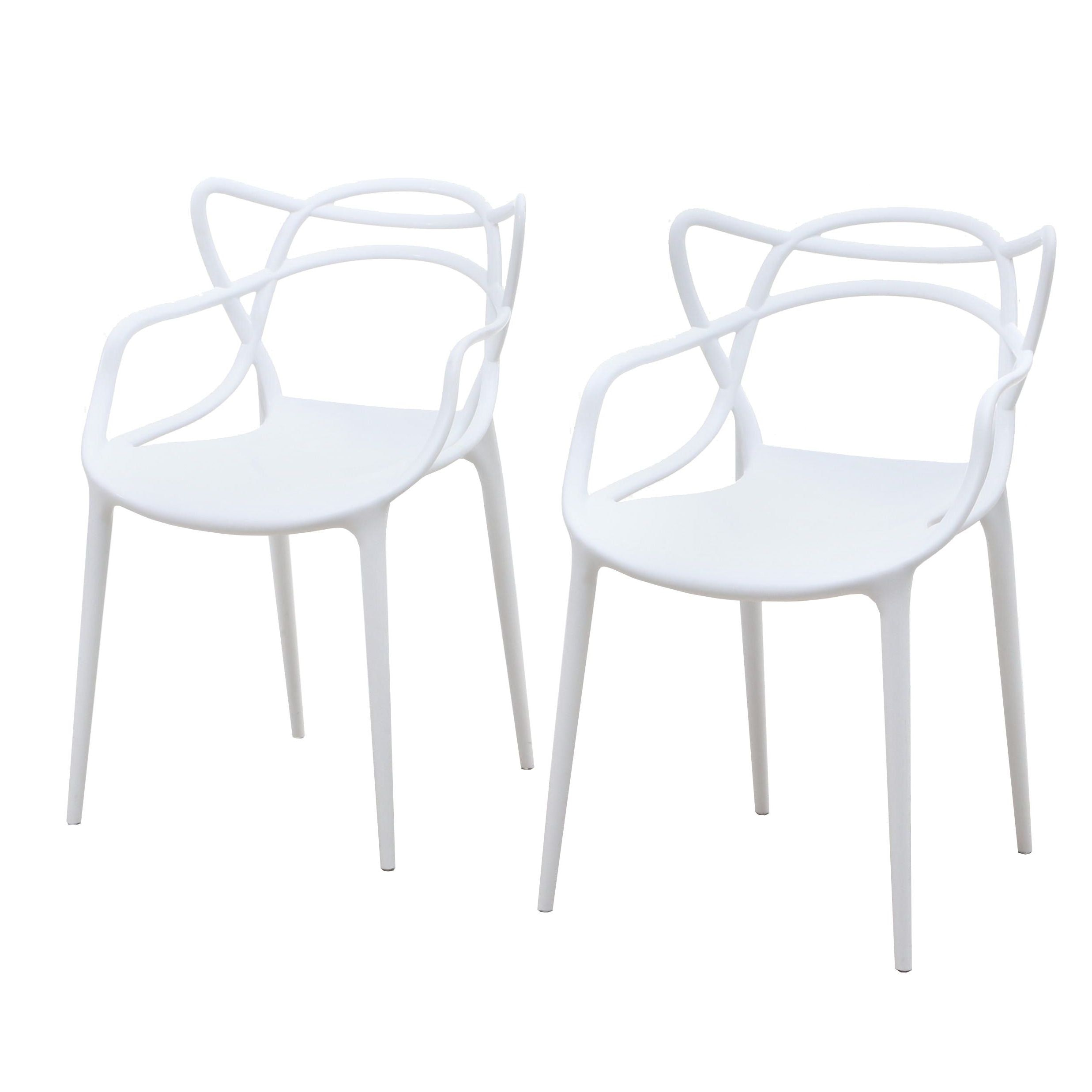 """Modway Mid Century Modern Style """"Entangled"""" Molded Chairs, Contemporary"""