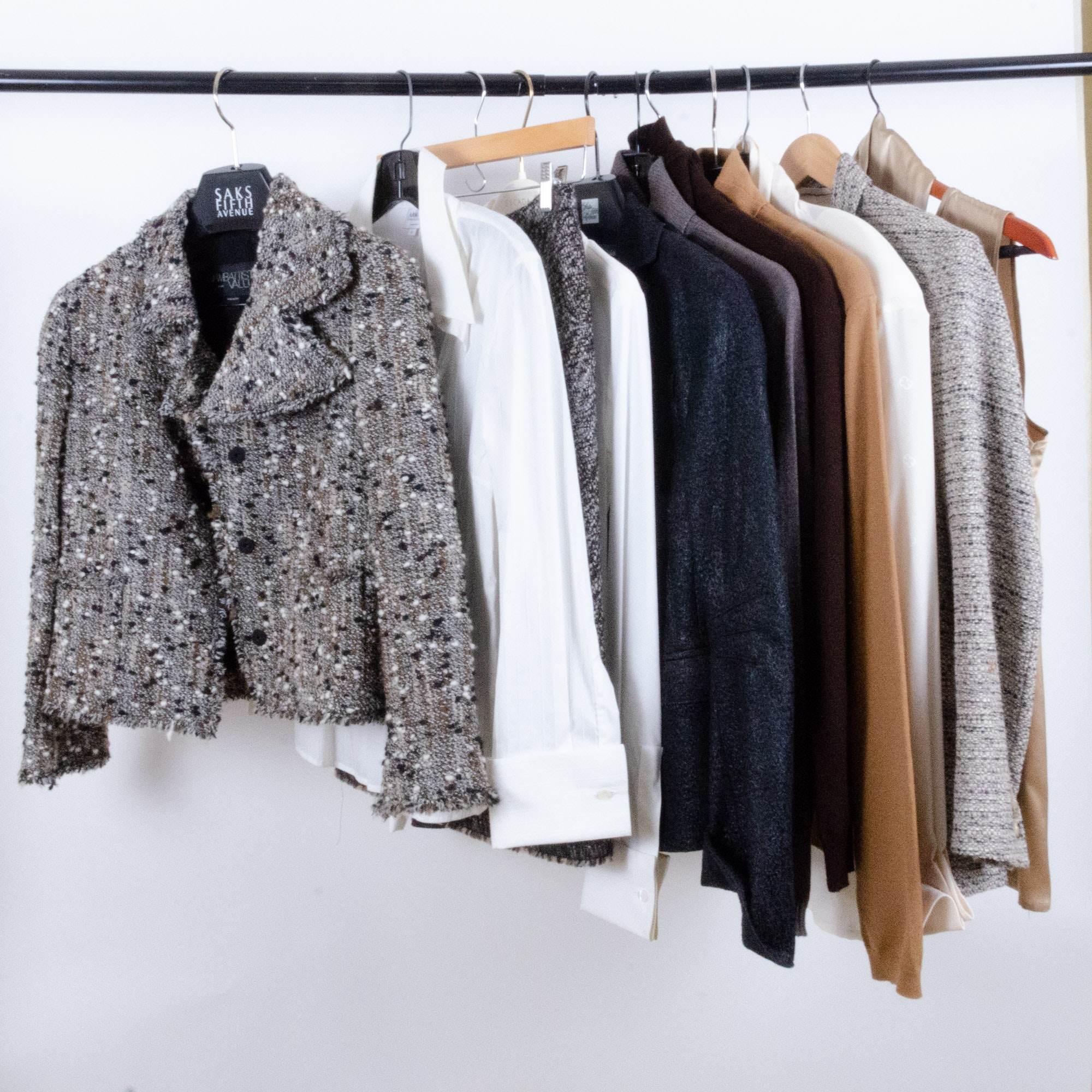 Women's Wool Jackets, Sweaters and Blouses with Armani, Akris Punto, Escada
