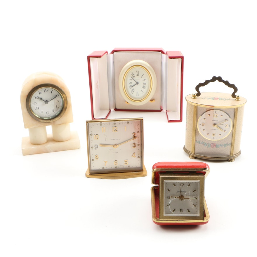 """""""Les Must de"""" Cartier and Seth Thomas Travel Clocks and Others"""
