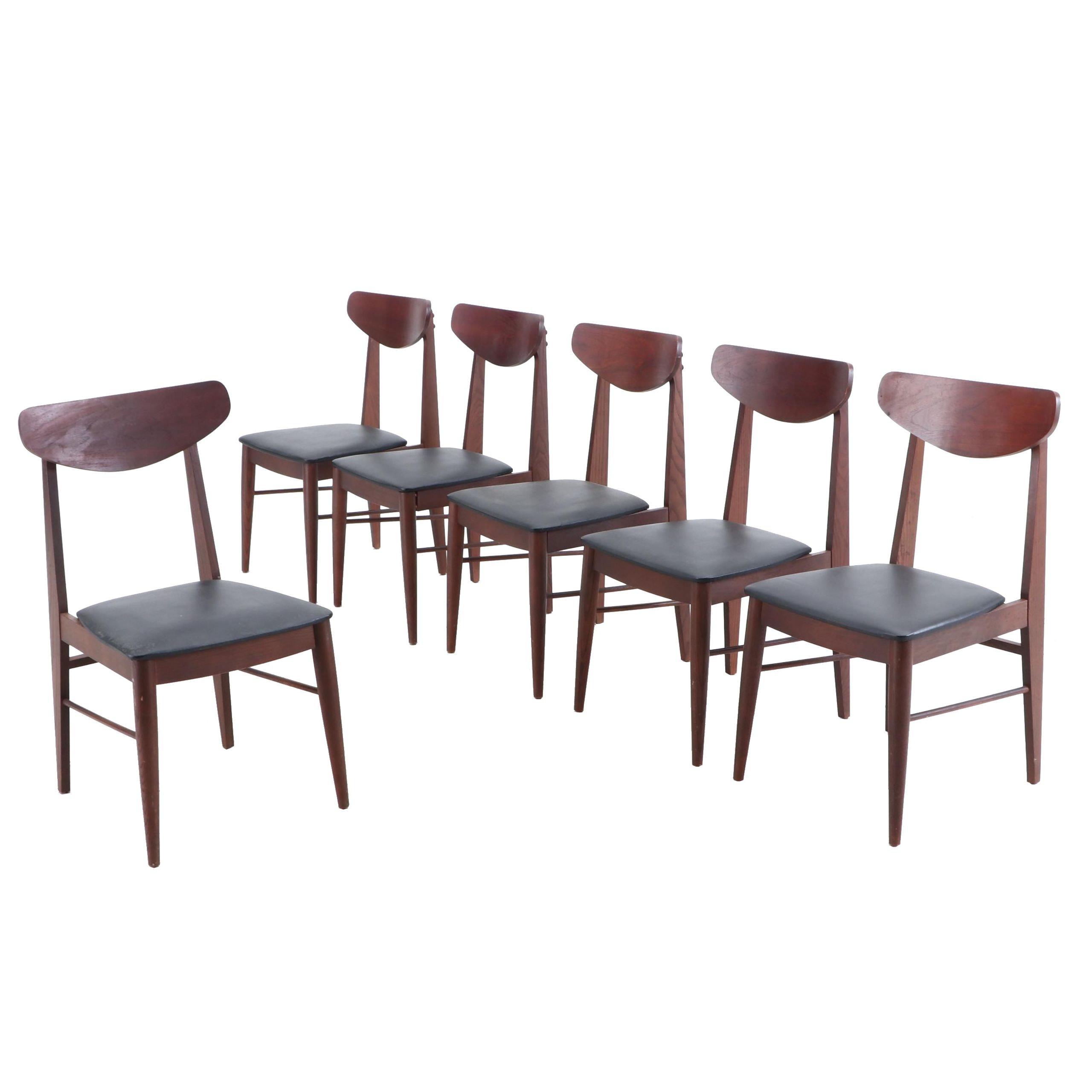 Mid Century Modern Stanley Walnut Side Chairs