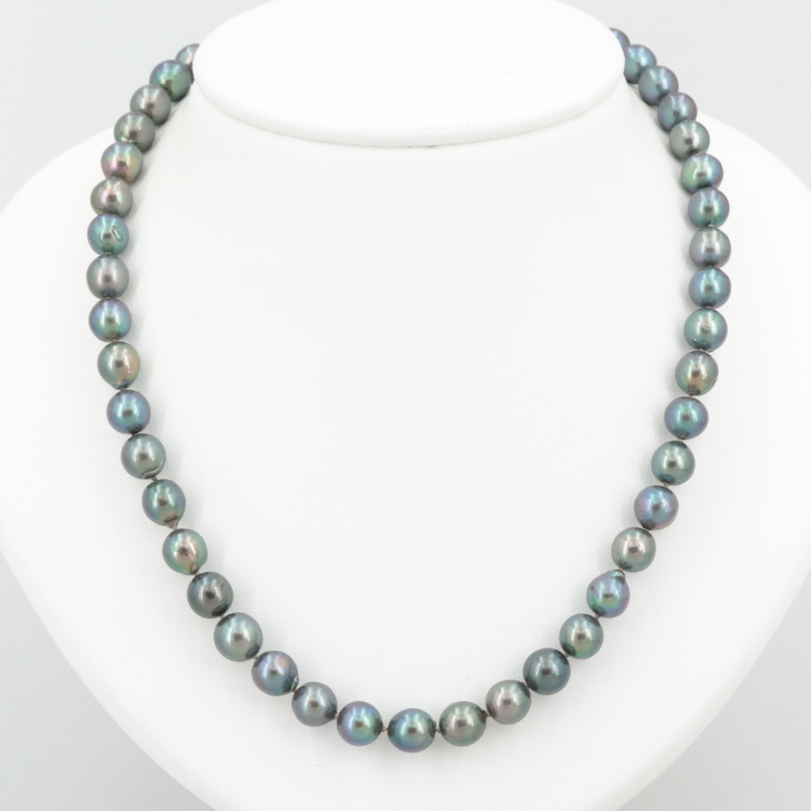 Sterling Silver Cultured Pearl Necklace with Loose Cultured Pearls