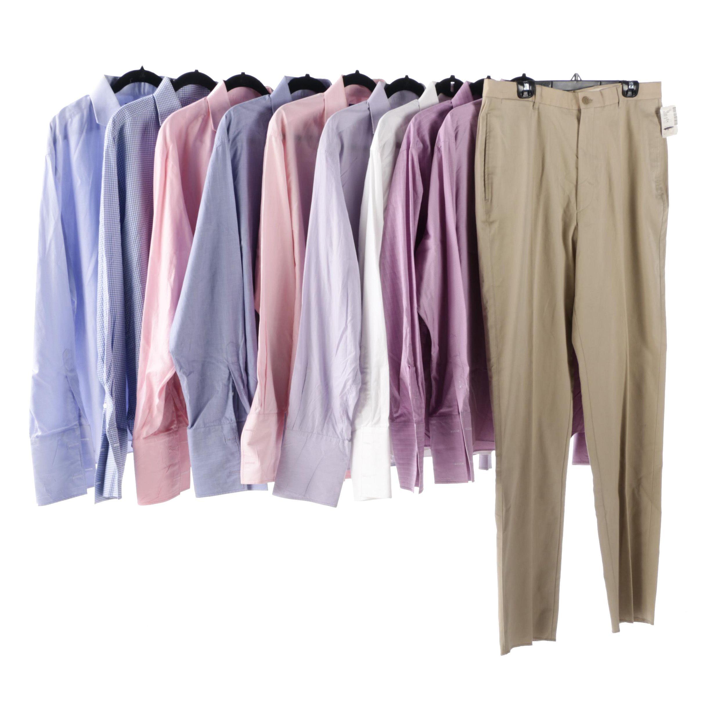 Ralph Lauren Bespoke Purple Label Cotton Dress Shirts and 5|48 Chinos