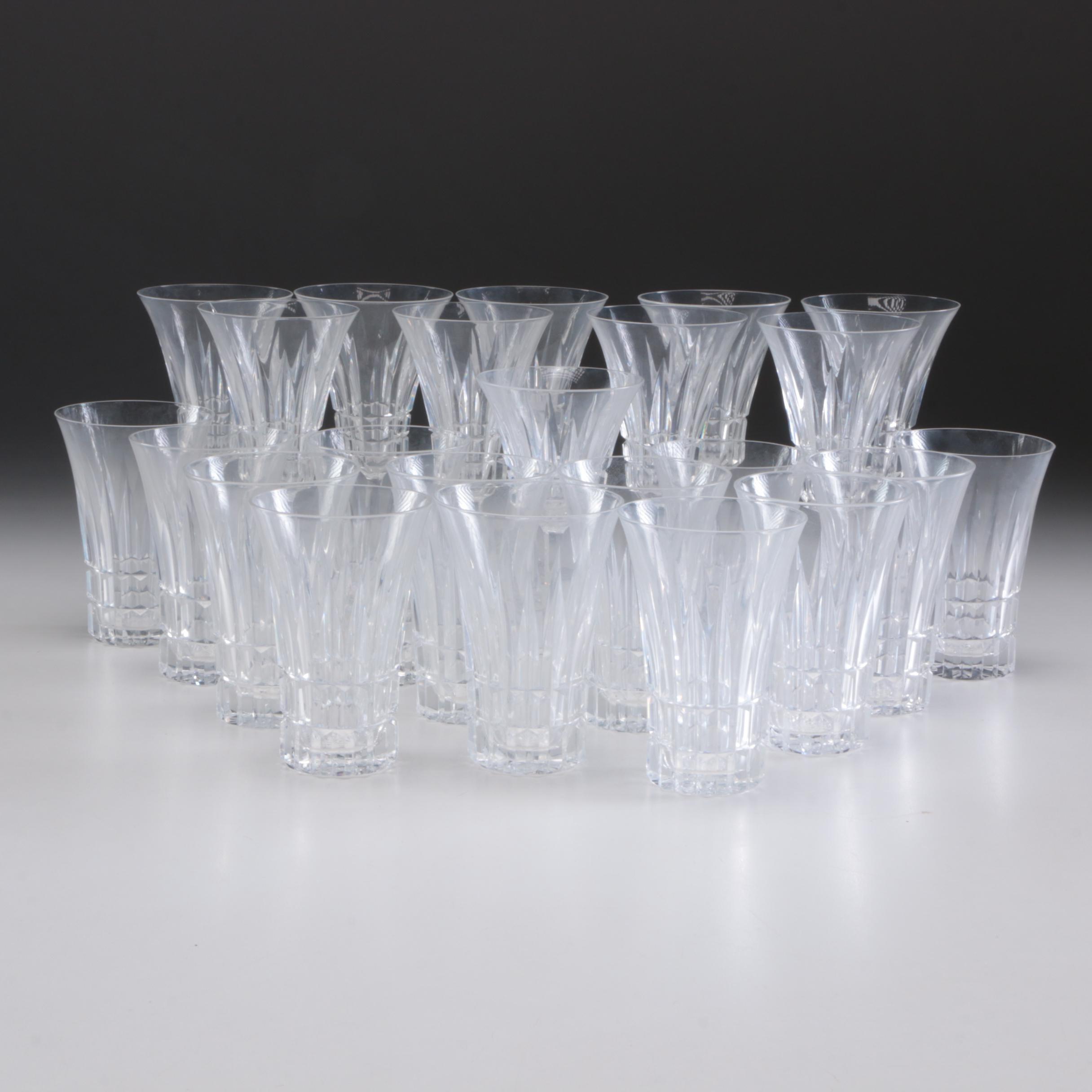 Twenty-Three Crystal Flutes and Tumblers