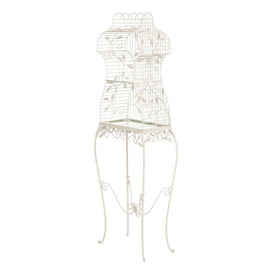 Contemporary Standing Dress Form Flower Cage