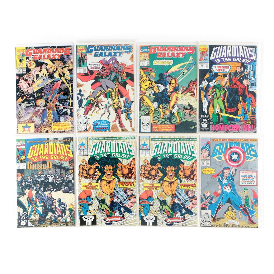 """Marvel """"Guardians of the Galaxy"""" Comic Books, 1990s"""