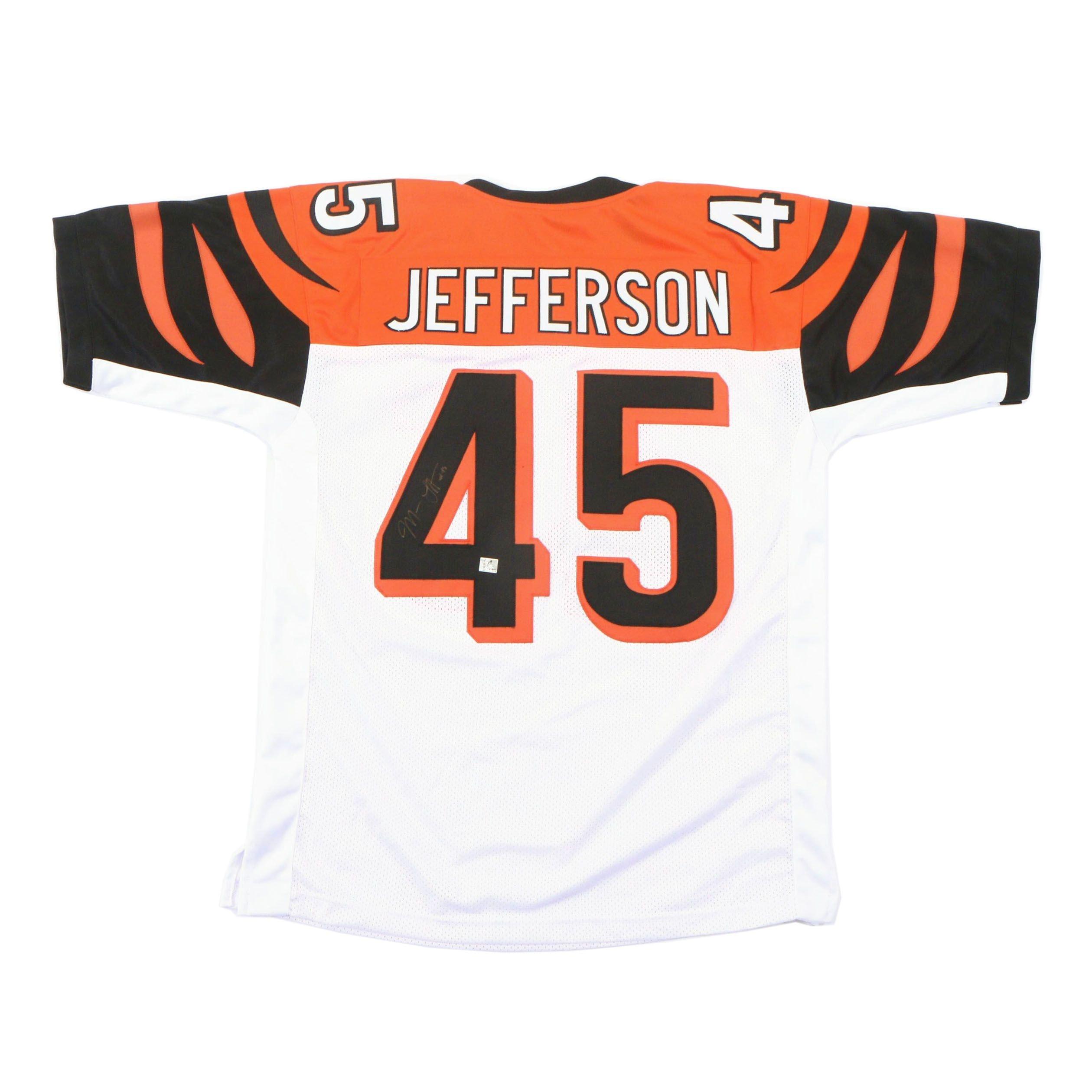 Malik Jefferson Signed Cincinnati Bengals Replica Jersey   COA