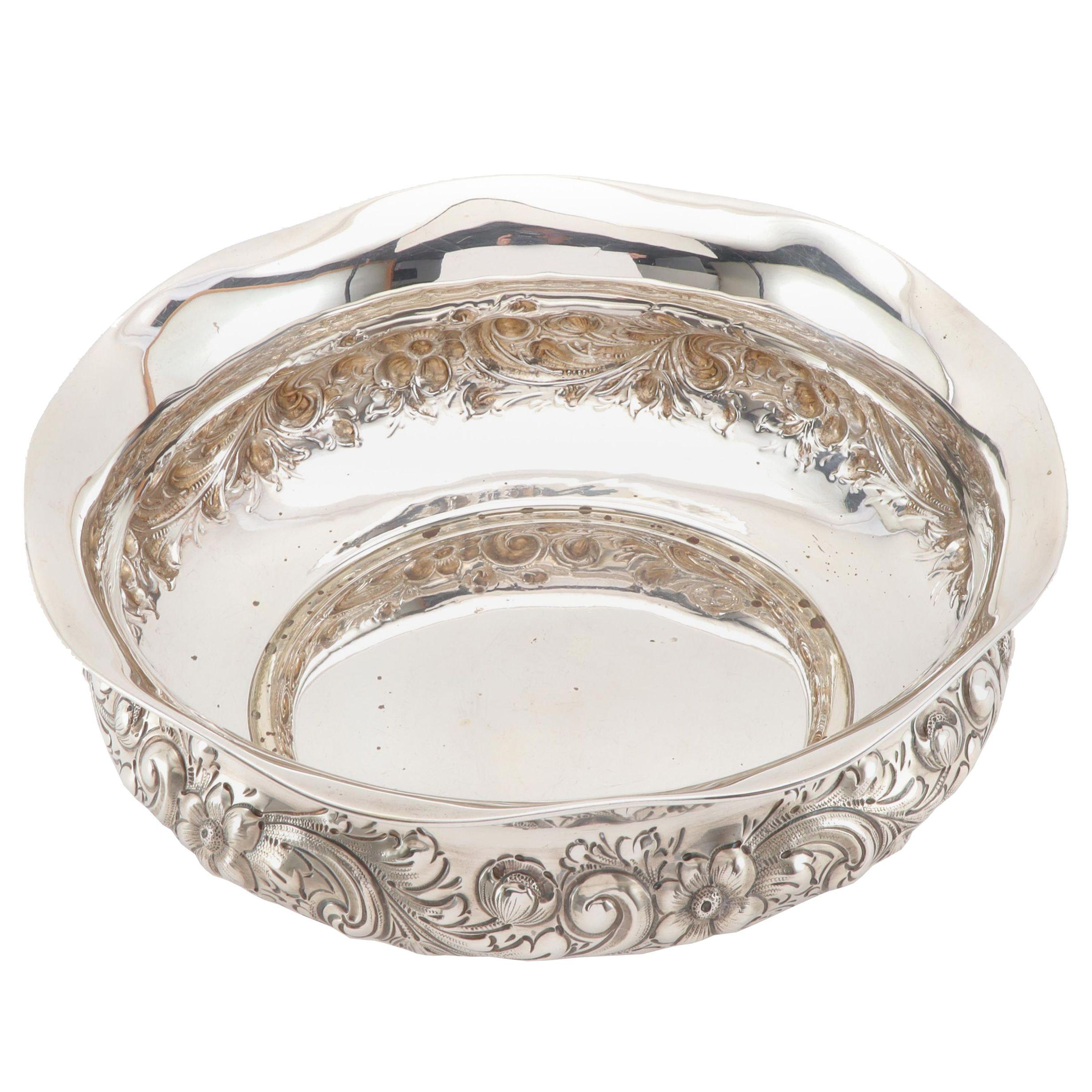 Dominick & Haff Repoussé Sterling Silver Centerpiece Bowl