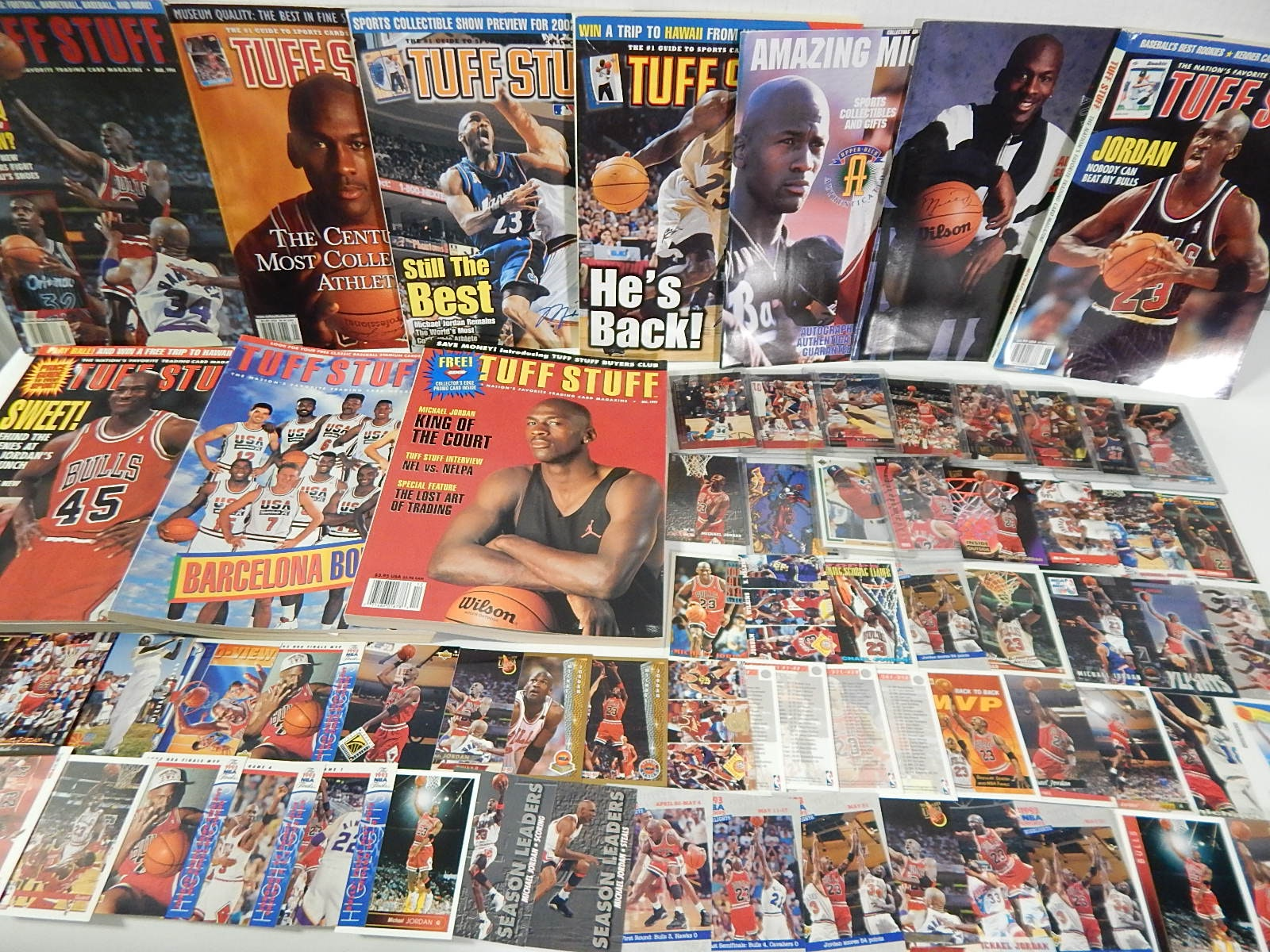 Large Michael Jordan Card and Magazine Collection