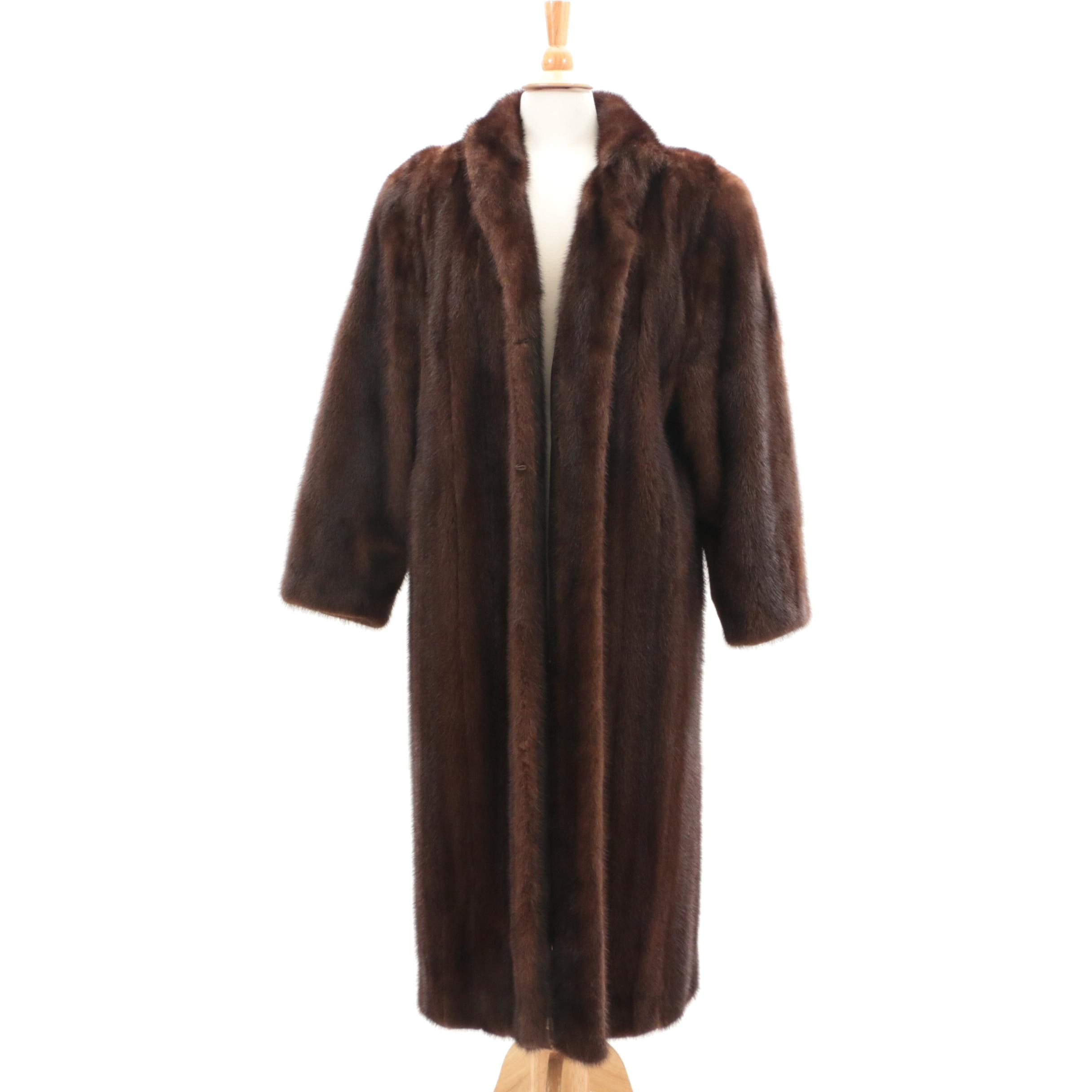 Dark Brown Mink Fur Coat, Vintage