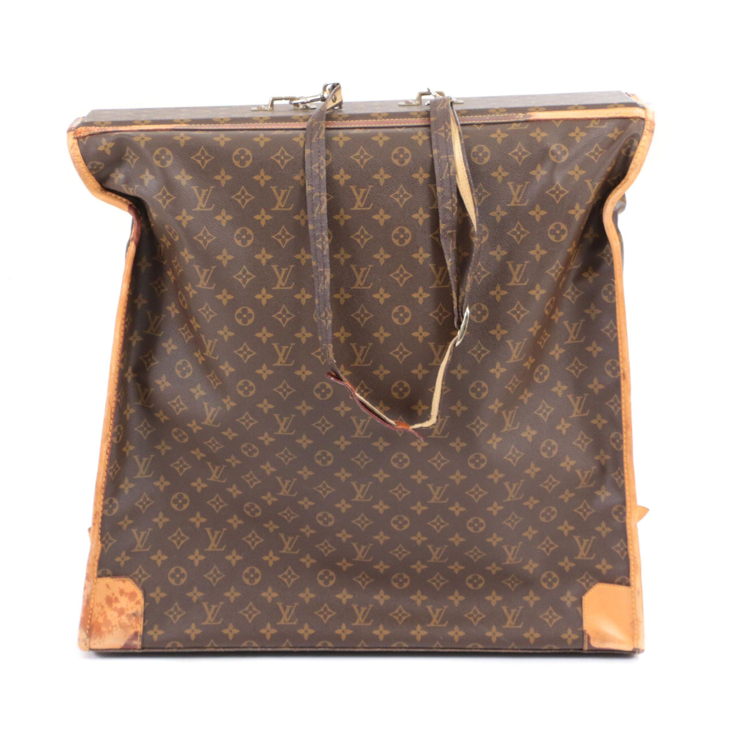 Louis Vuitton Malletier Monogram Canvas Garment Bag, 1970s Vintage