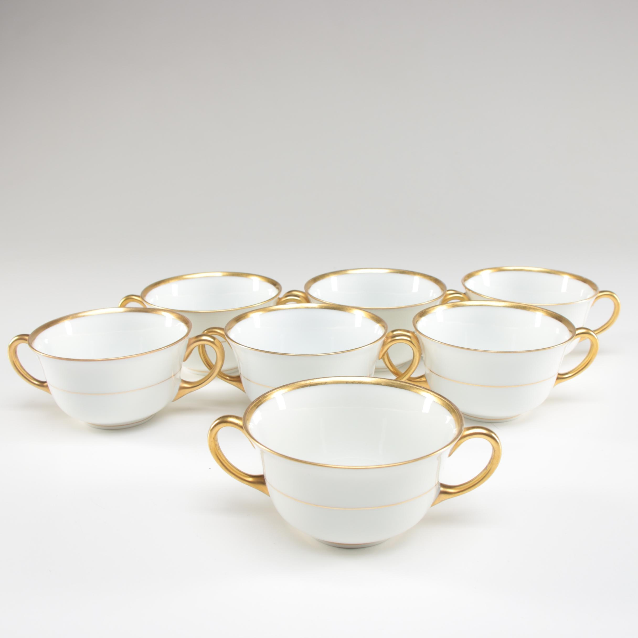 Czechoslovakian Porcelain Bouillon Cups, 1918–1993