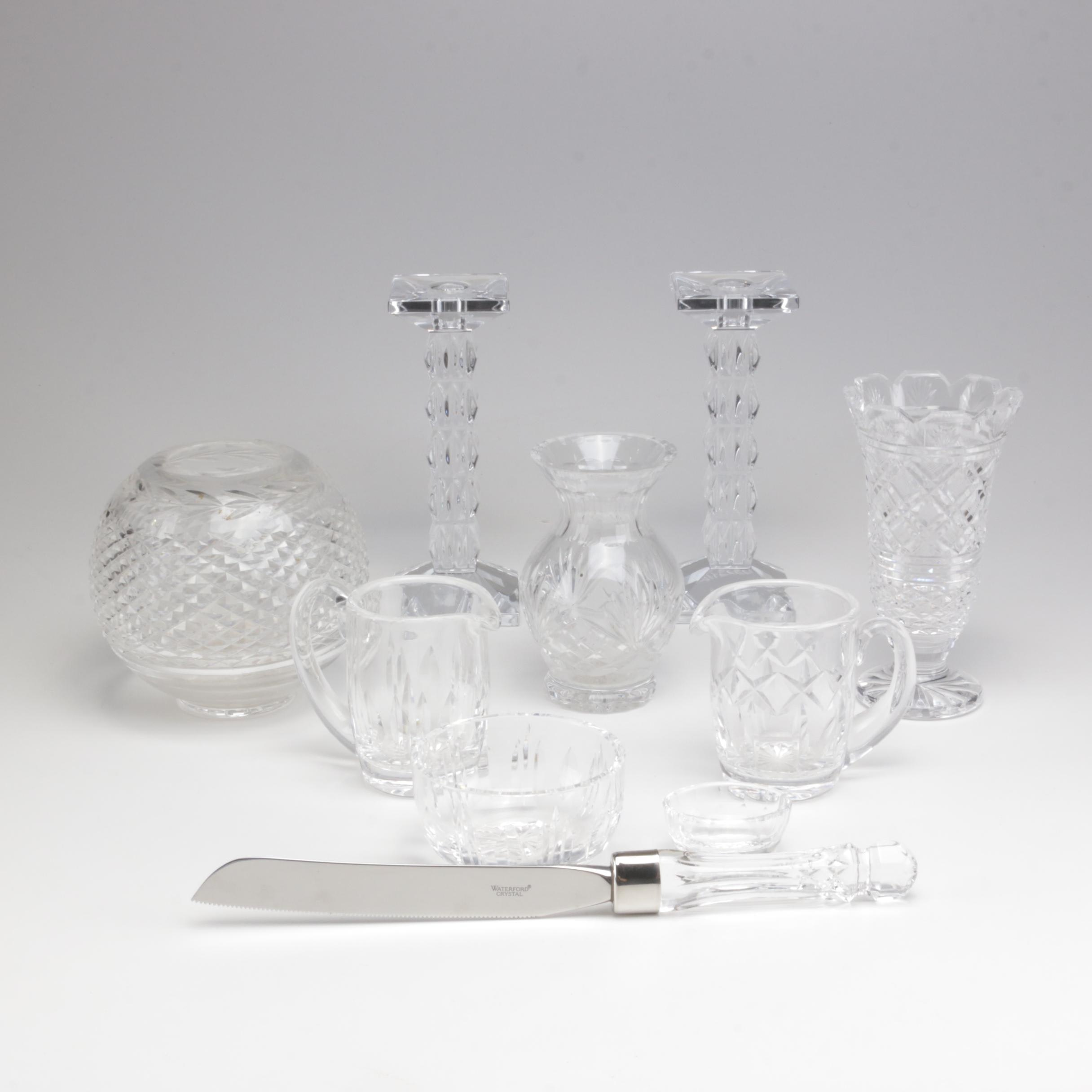 Waterford Crystal Vases, Candlesticks and Serveware