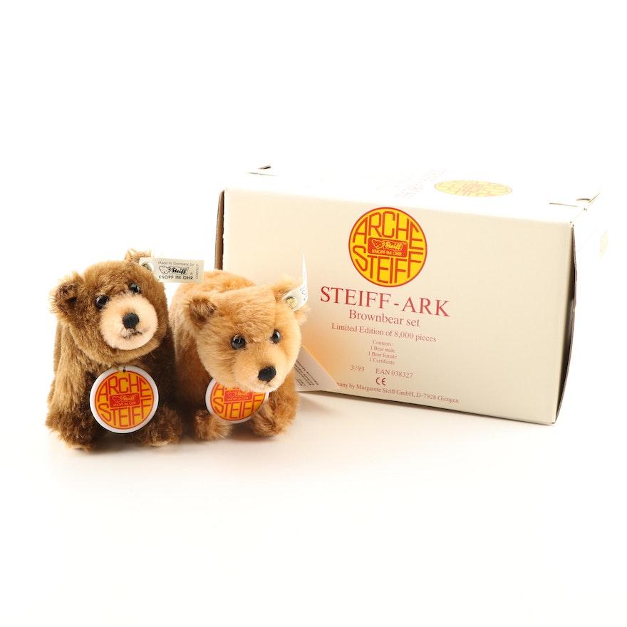 Steiff Arche Limited Edition Brownbear Set Plush Animals