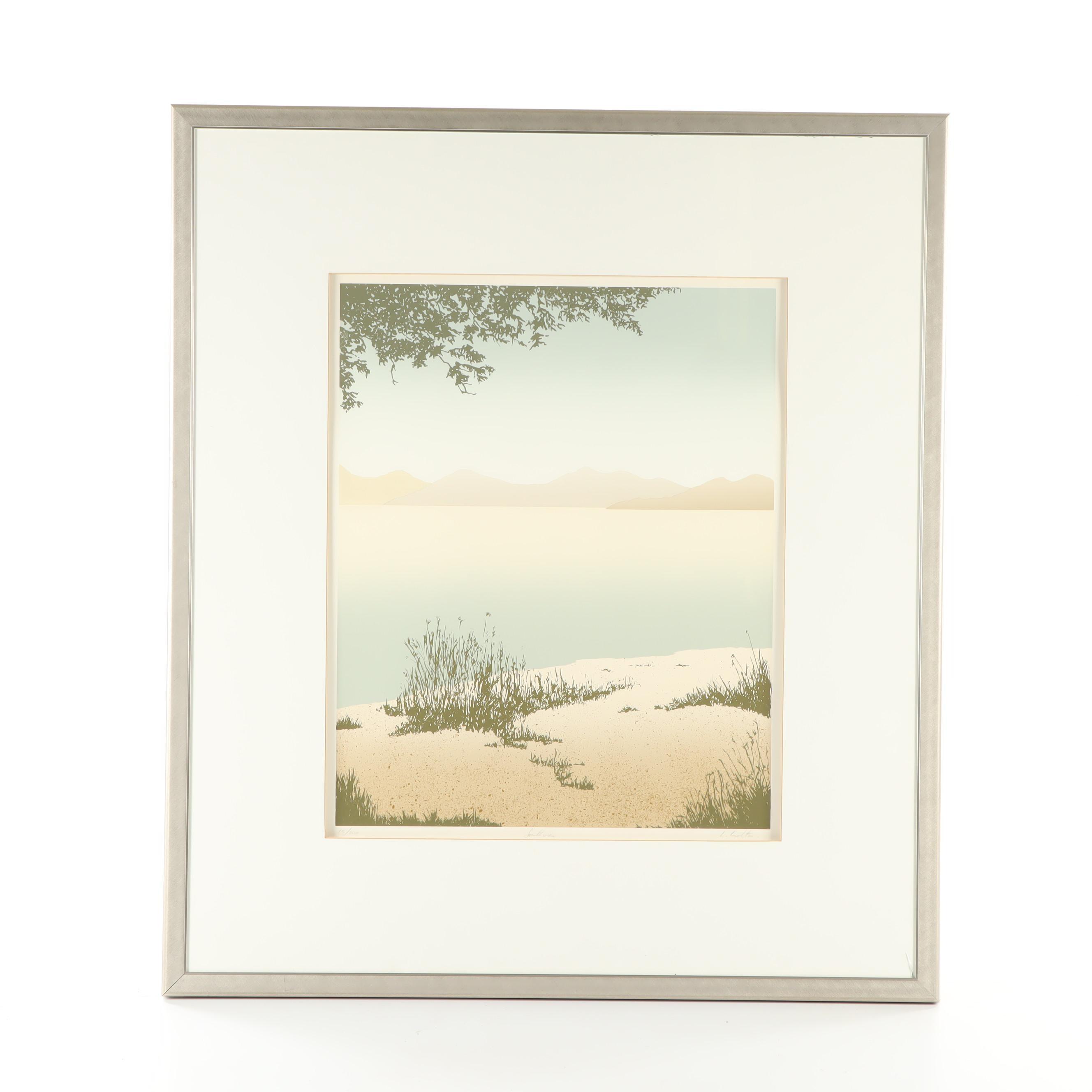 """20th Century Landscape Serigraph """"Southview"""""""