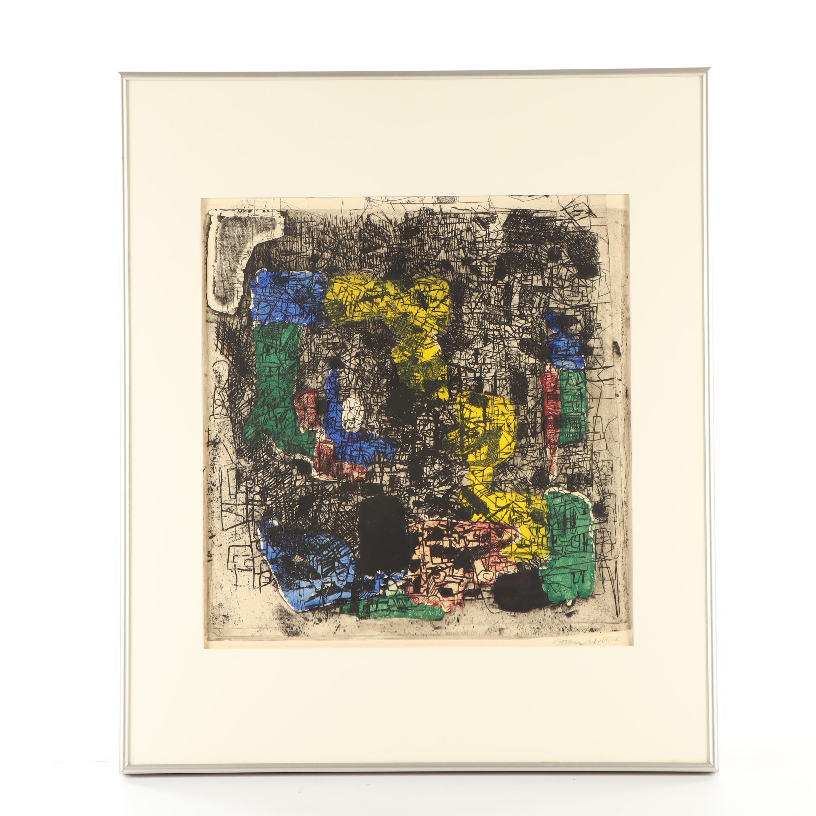 Juan Manuel Gomez-Quiroz Abstract Embossed Etching