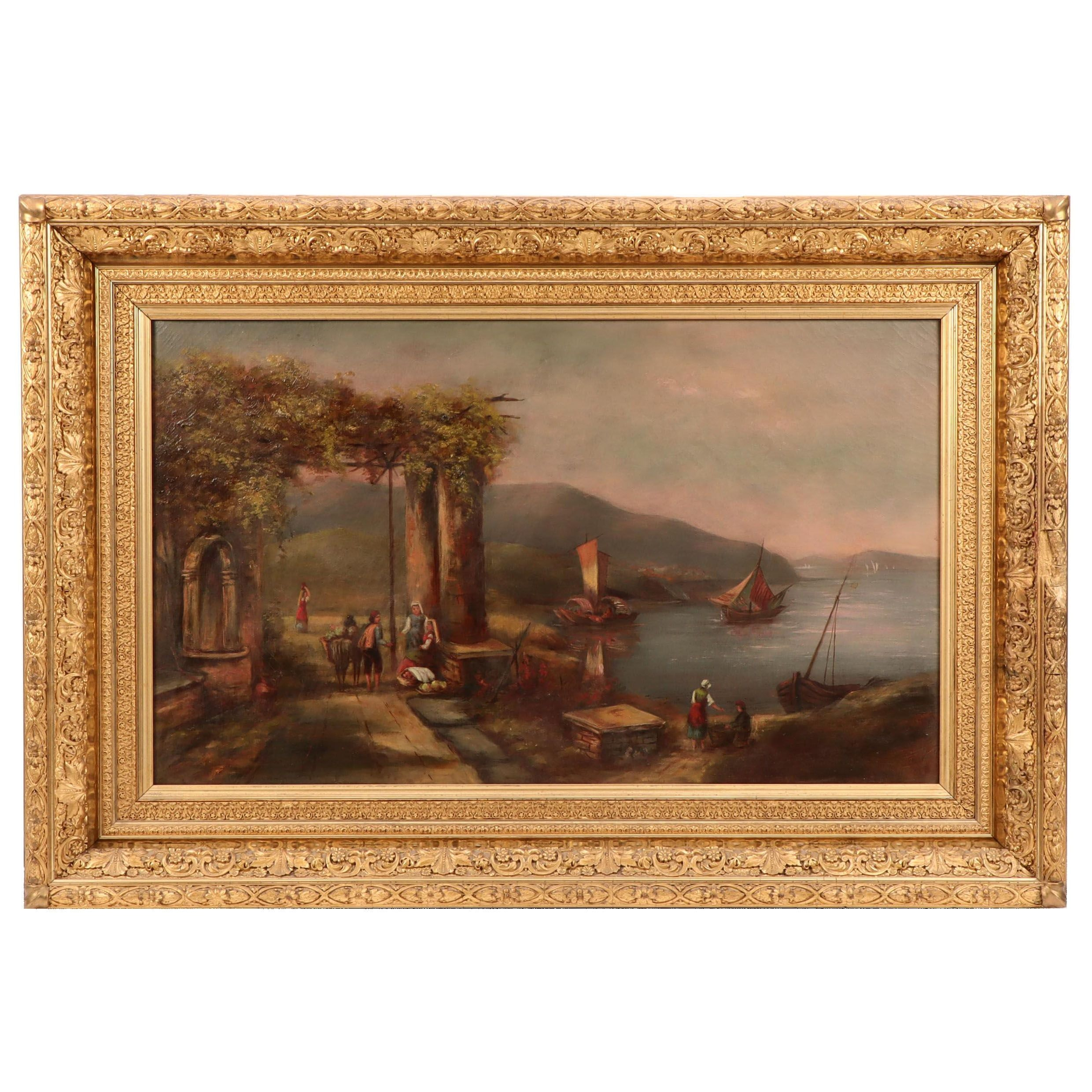 Late 19th Century Continental Oil Painting of the Bay of Naples