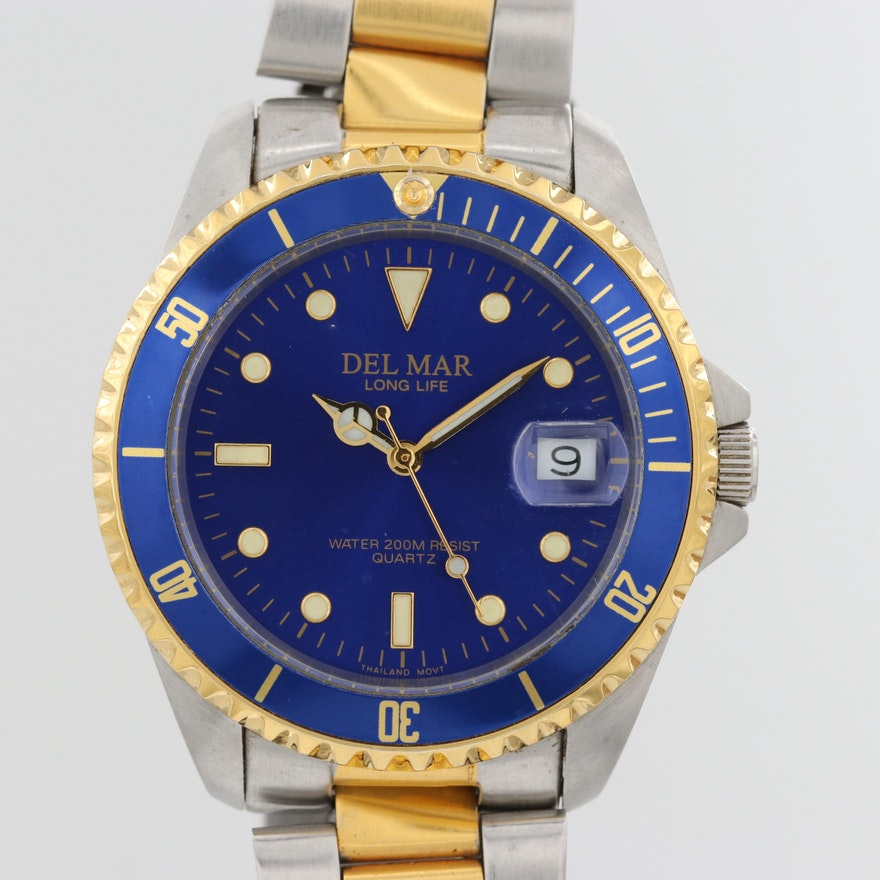 Del Mar Classic 200 Two Tone Quartz Wristwatch