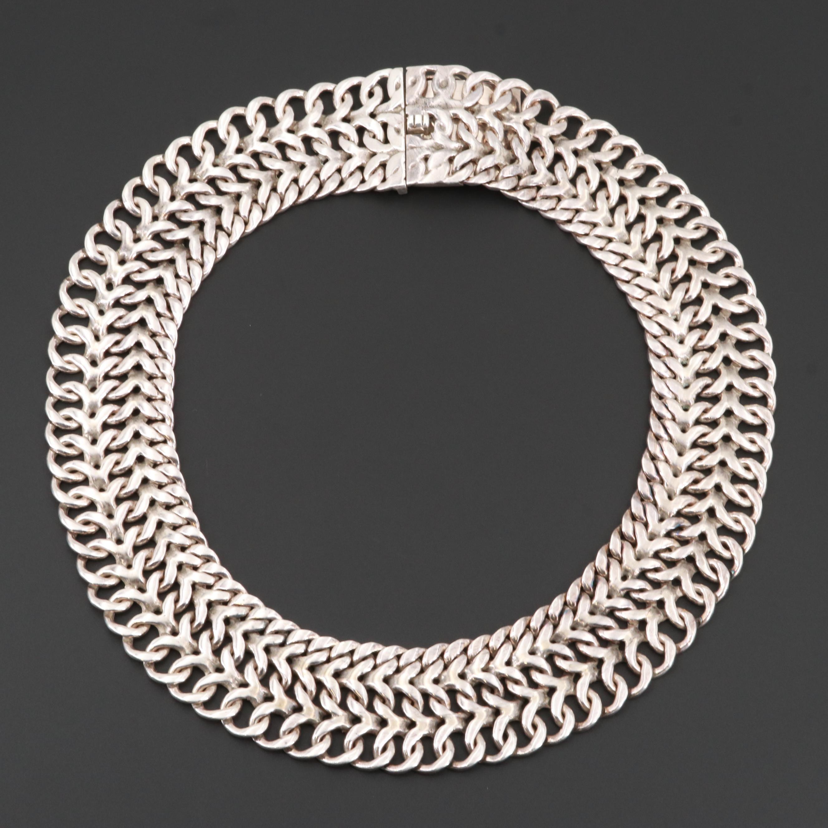 Rodolfo Espinoza Taxco Mexico Sterling Silver Necklace