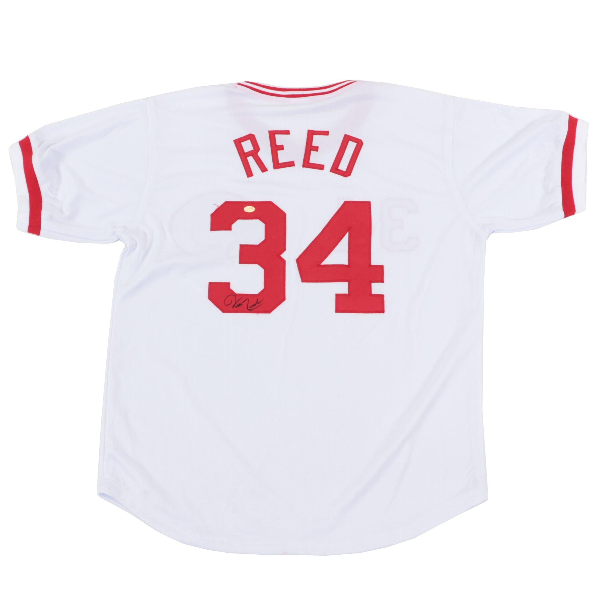 Jeff Reed Signed Cincinnati Reds Replica Jersey