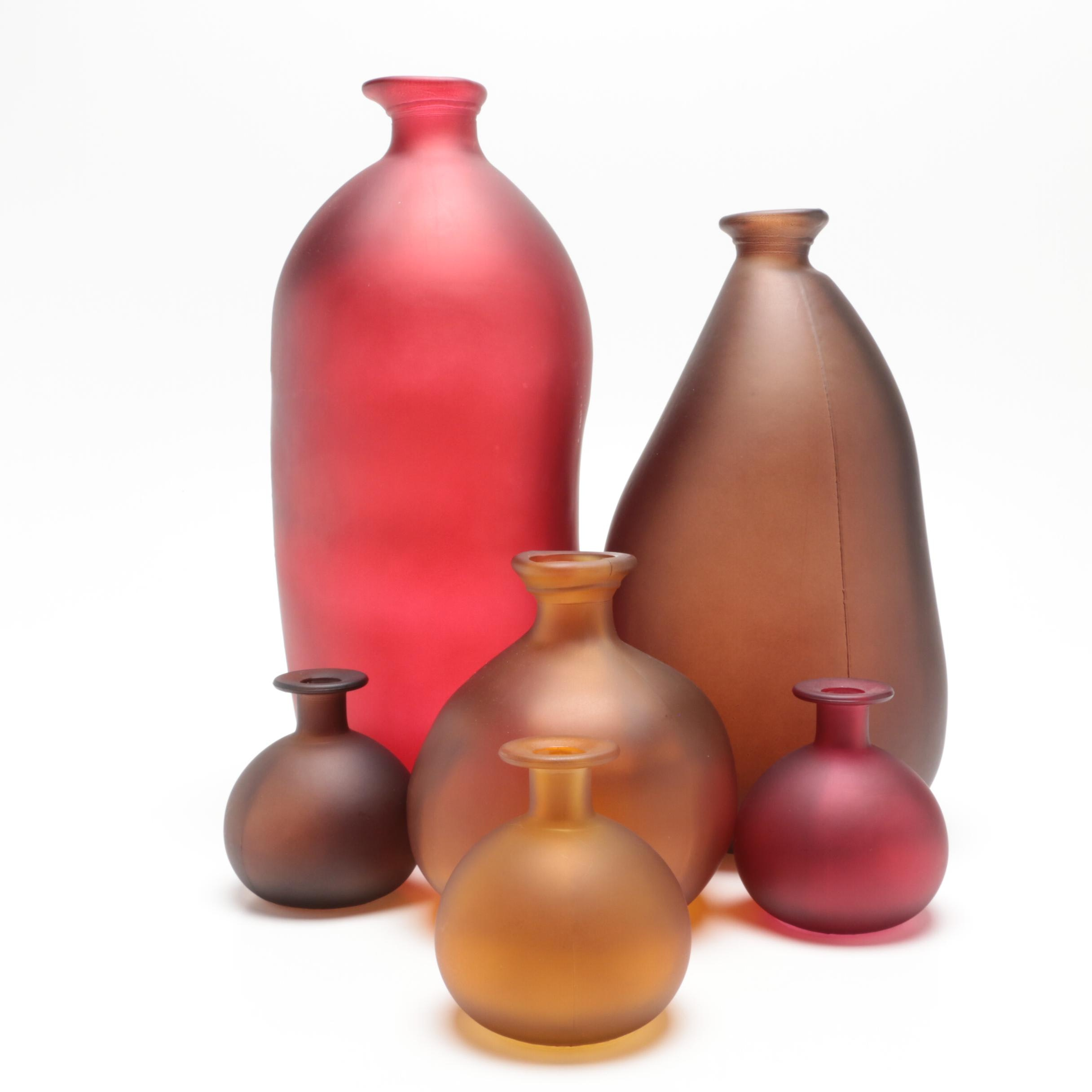 Frosted Glass Decorative Bottles