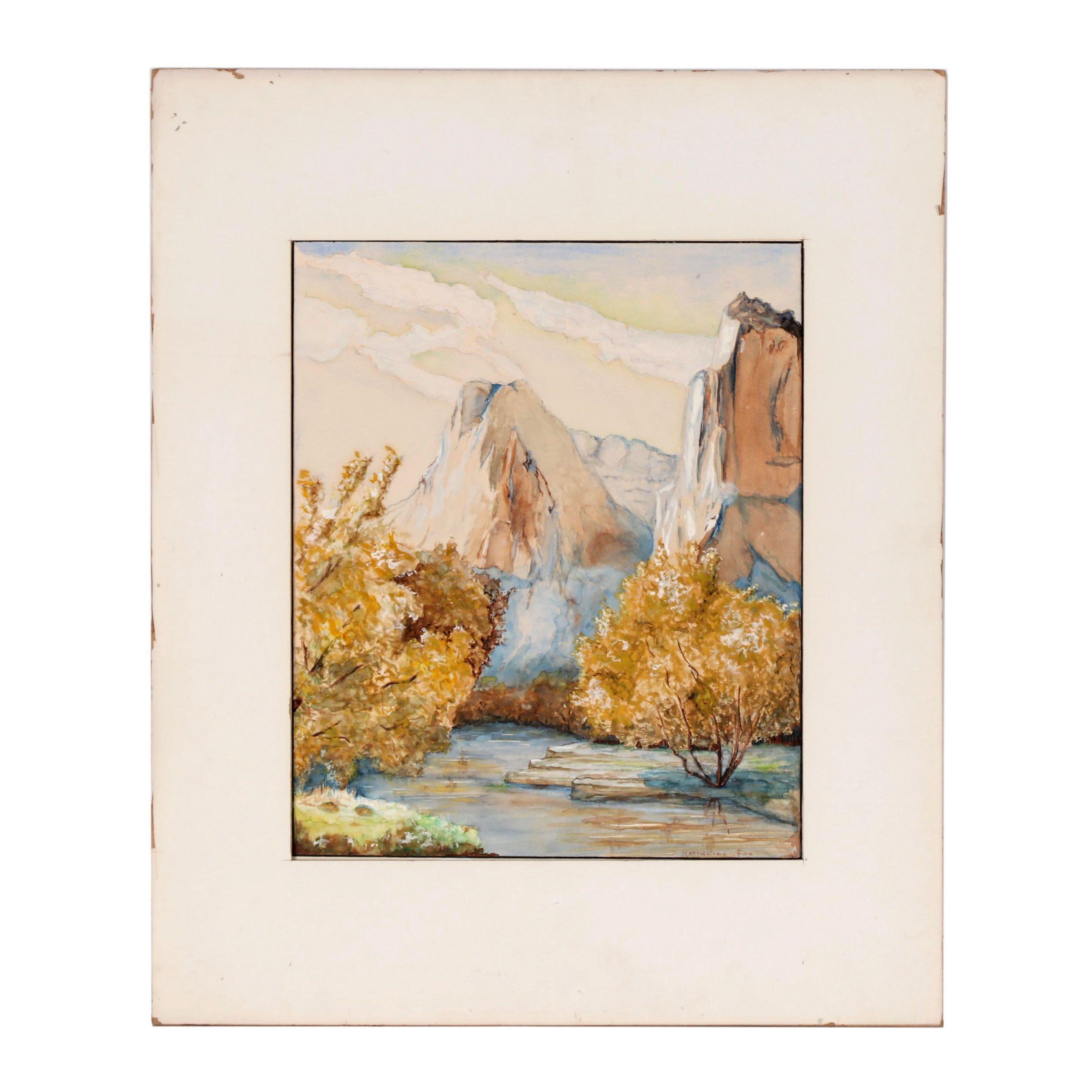 Katherine Fox Watercolor Landscape Painting