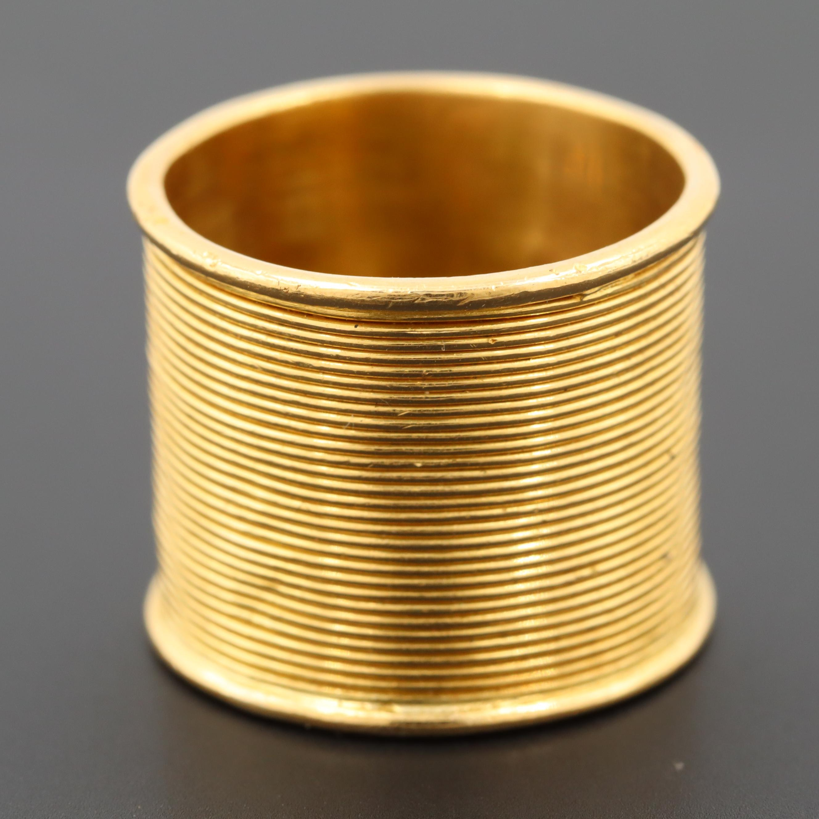 22K Yellow Gold Coil Wrap Ring