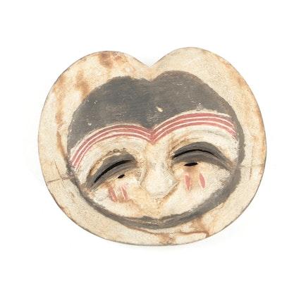 Polychrome Wooden Kwele Mask