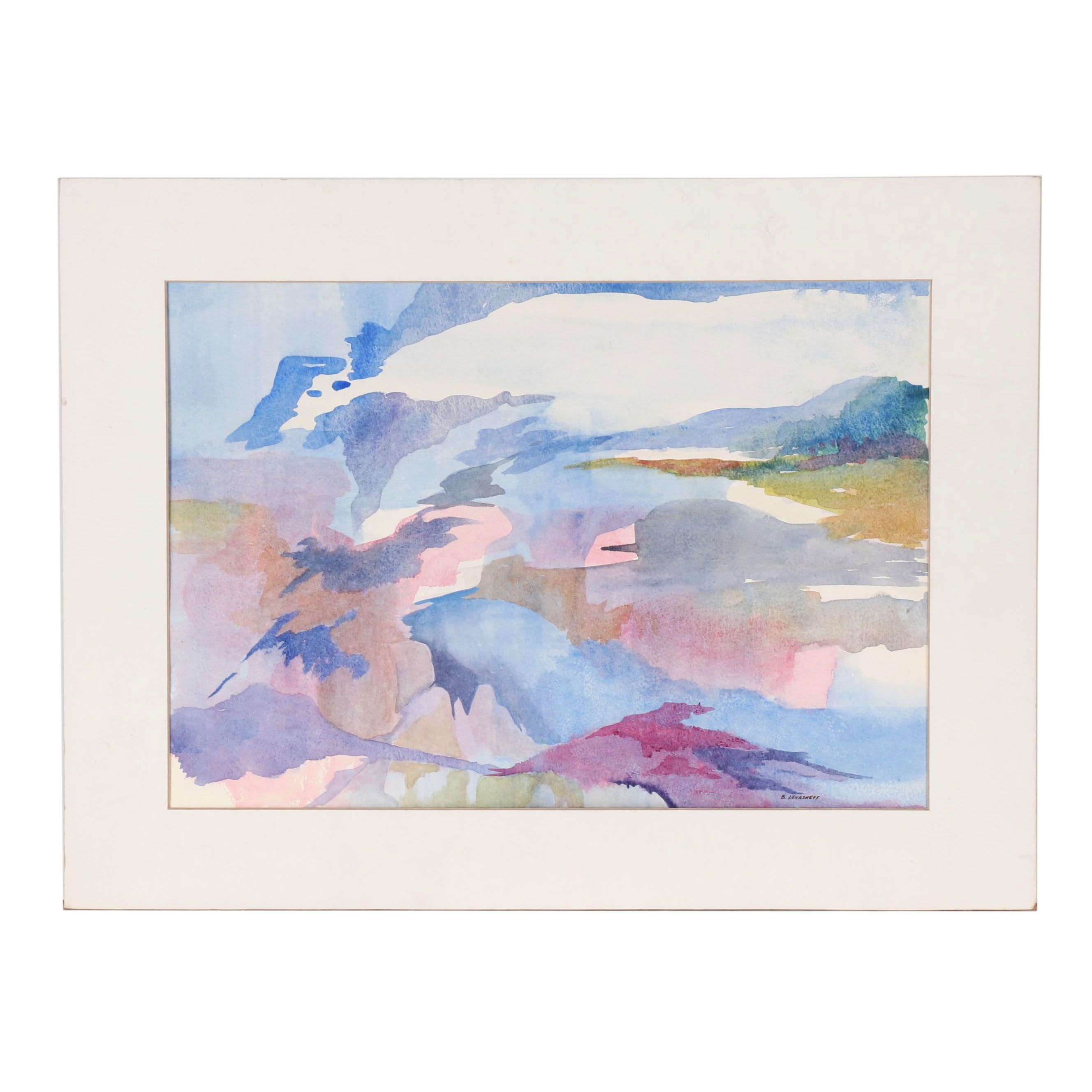 Betty Levasheff Abstract Watercolor Painting
