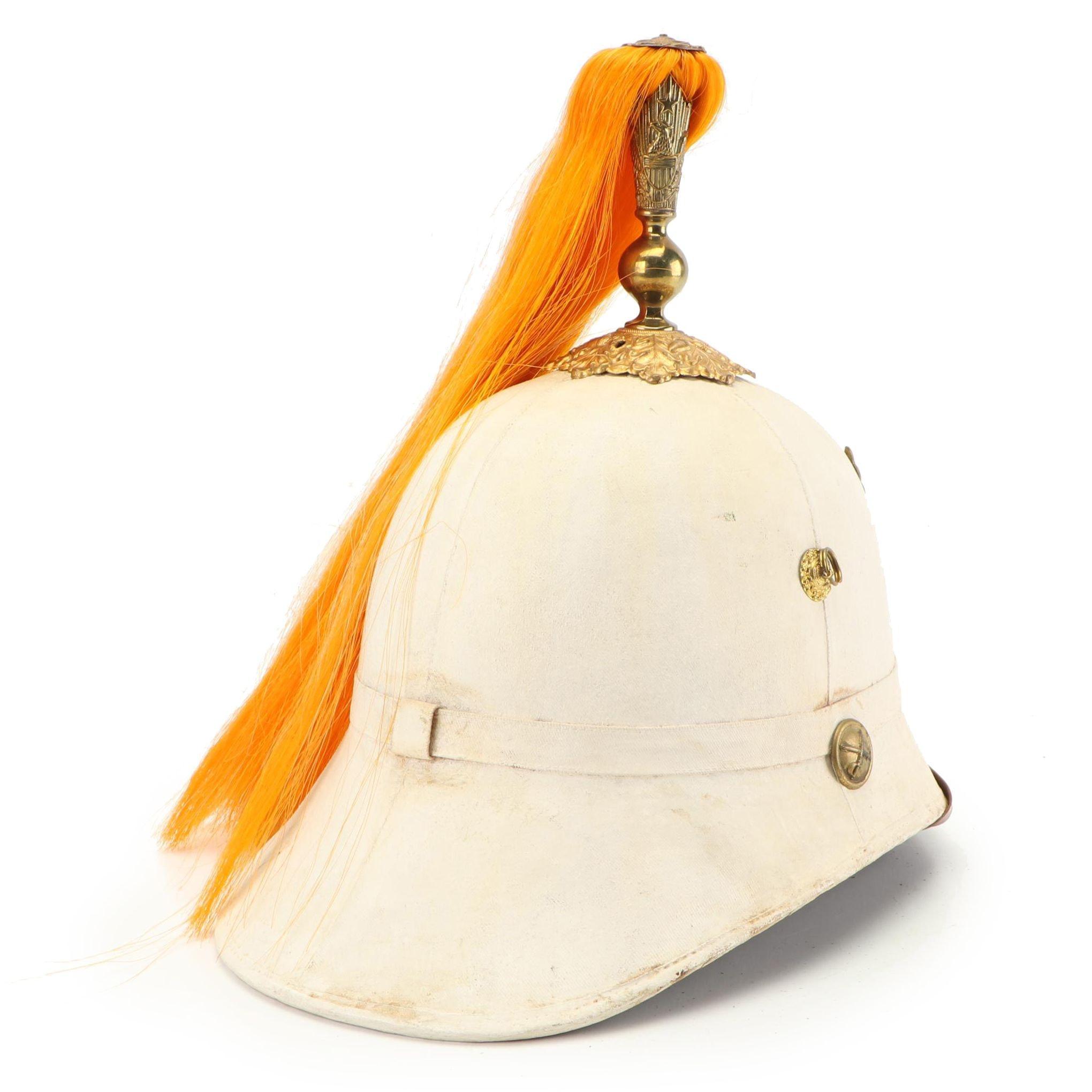 U.S. Cavalry Summer Dress Cork Helmet with Plume
