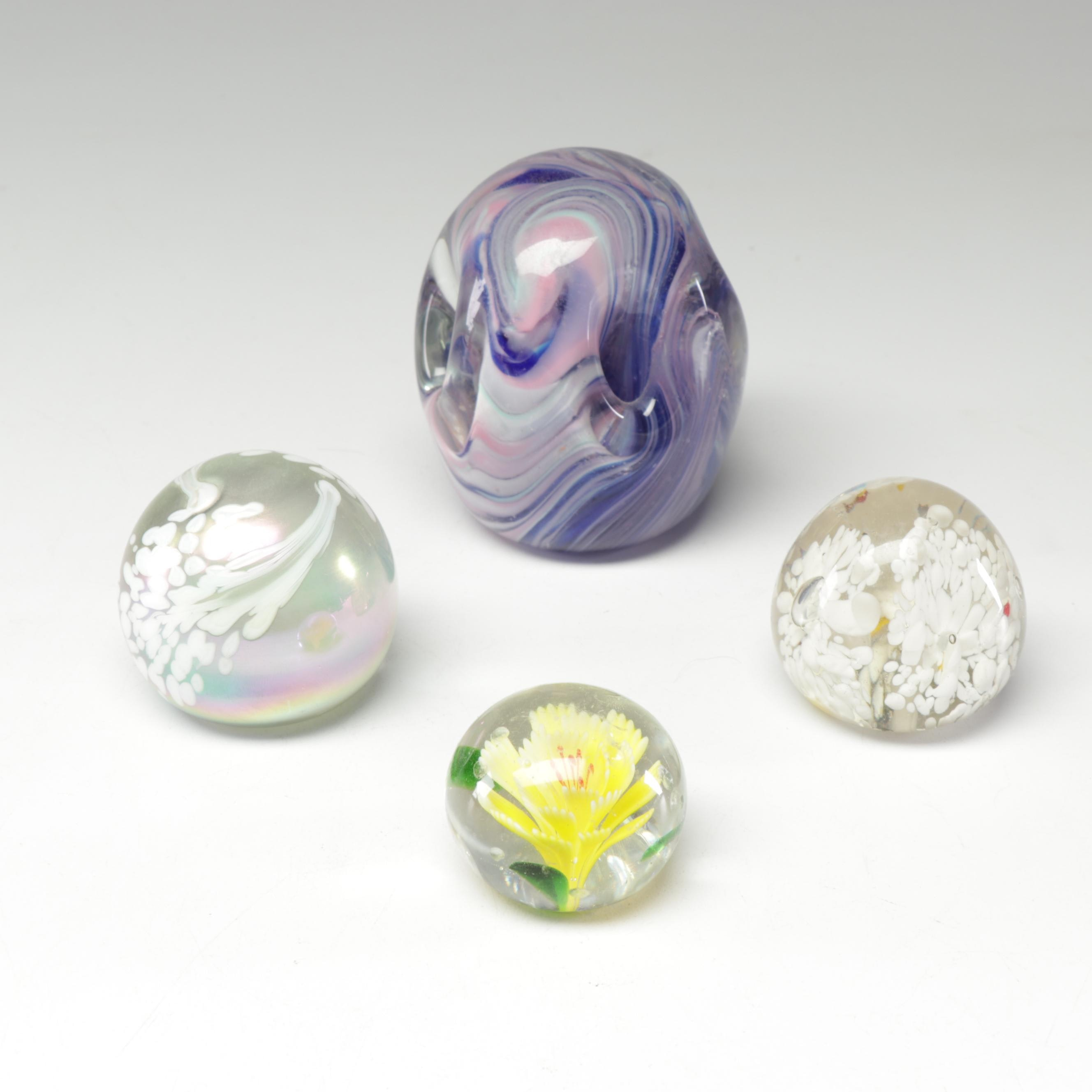 Hand-Blown Glass Paperweights