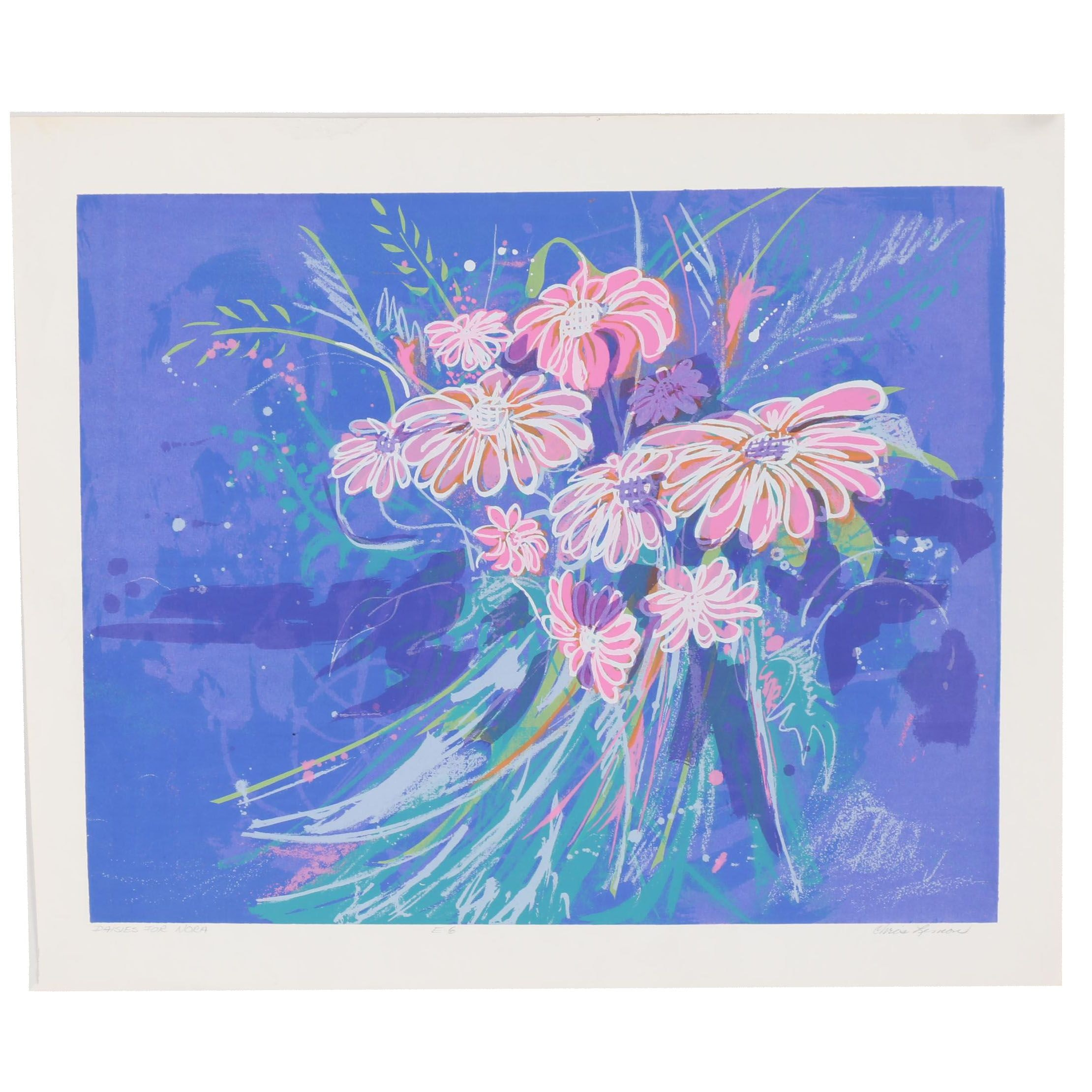 "Chris Lemon Serigraph ""Daisies for Nora"""