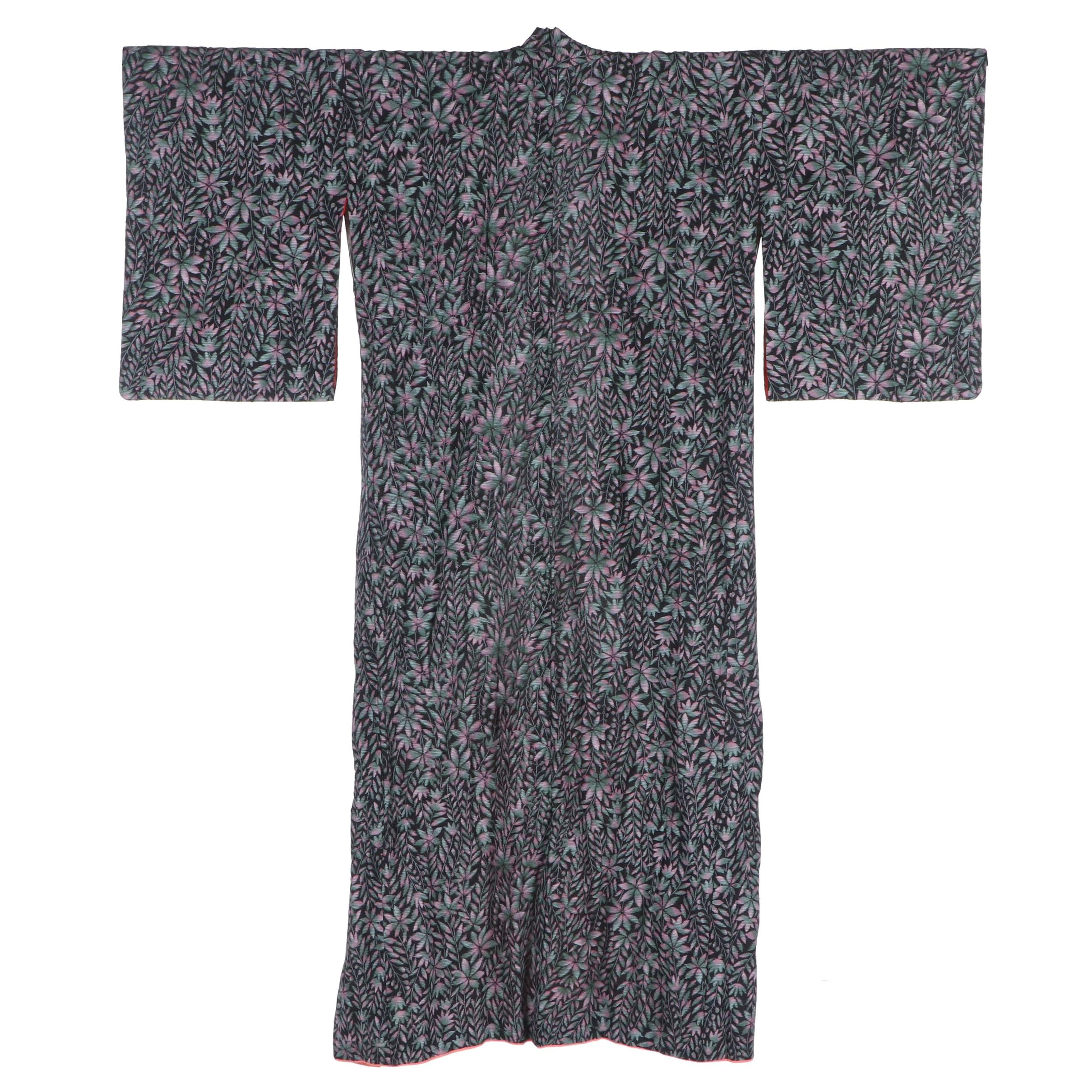Silk Komon Kimono, circa 1950