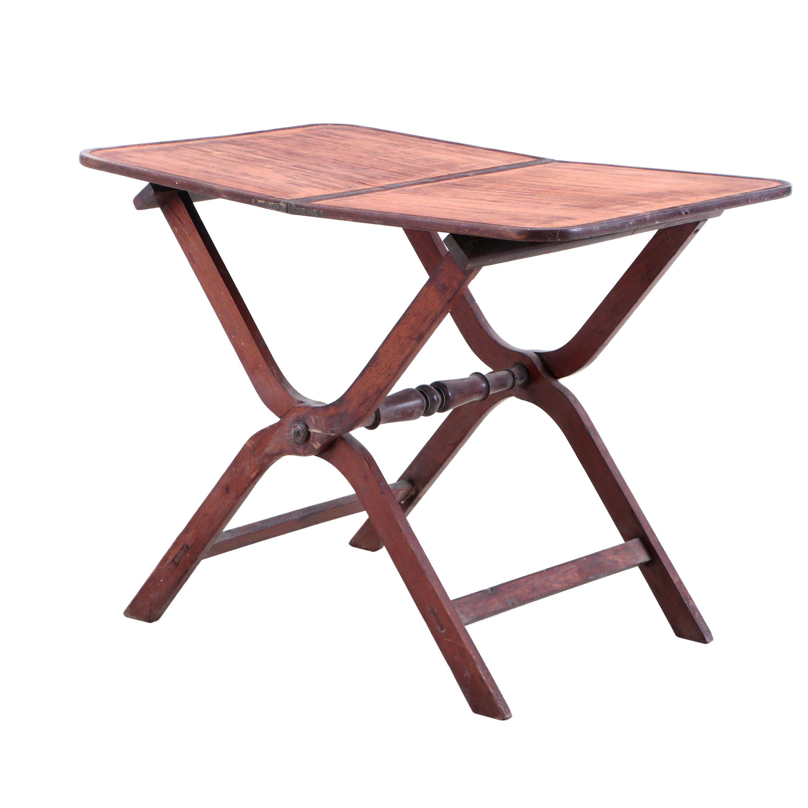 William IV Mahogany Folding Table, Early 19th Century