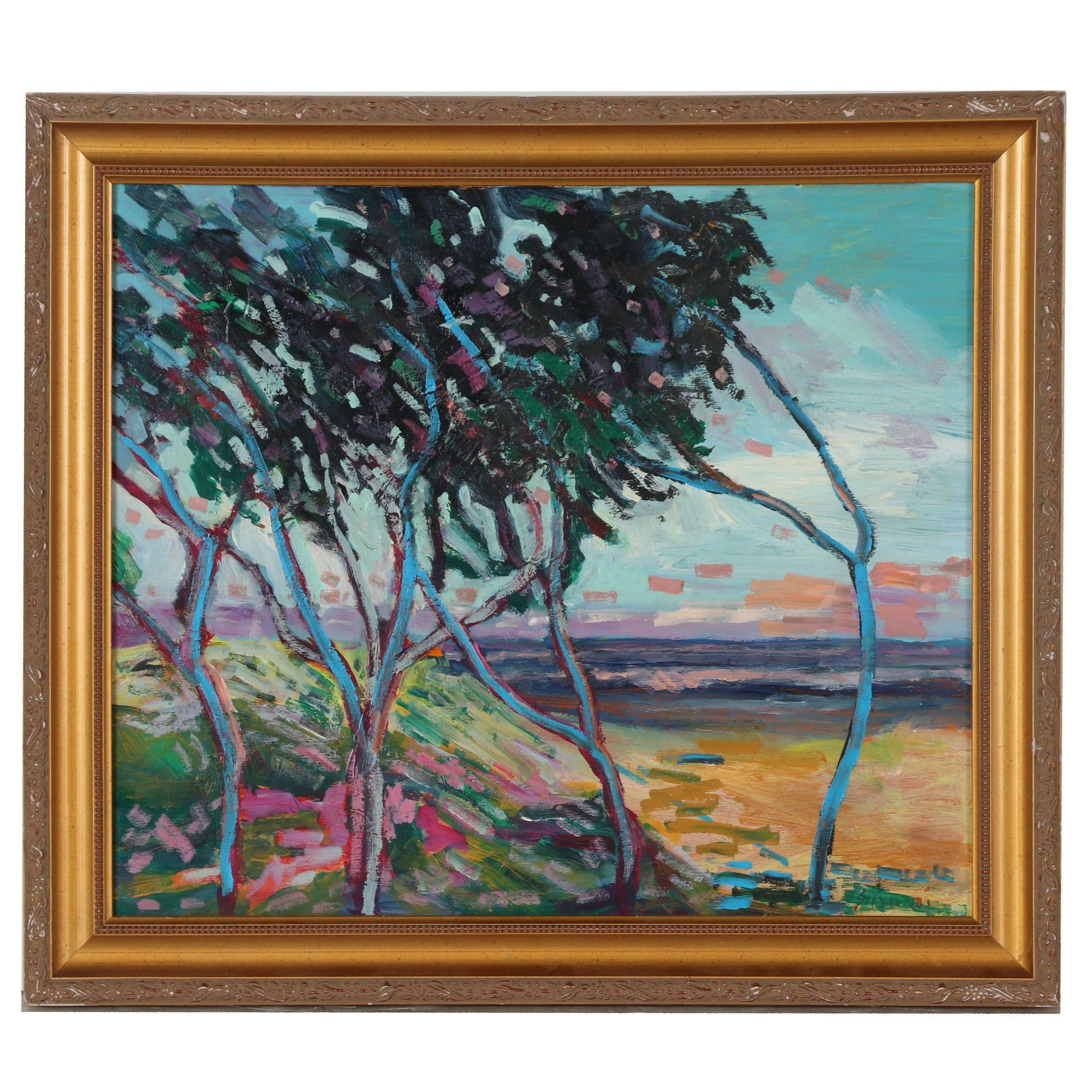 """Juan Guzman-Maldonado Oil Painting """"Camarillo"""""""